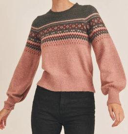 Lush fair isle sweater LT16078