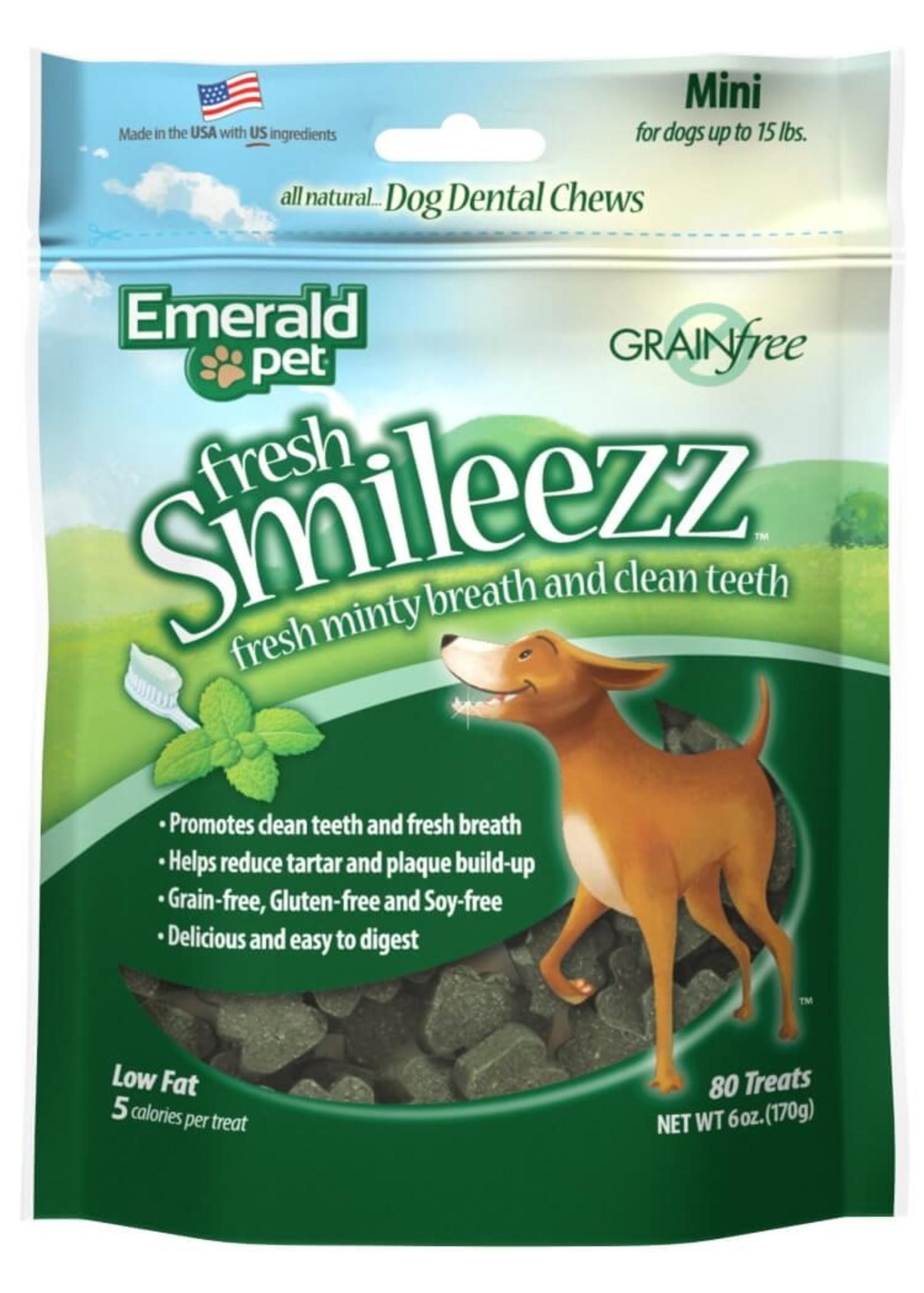 Emerald Pet Emerald Pet fresh Smileezz Dog Dental Treat 6 oz