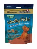 Emerald Pet Emerald Pet Feline Wholly Fish Salmon + Digestive Health Cat Treat 3 oz