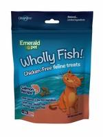 Emerald Pet Emerald Pet Feline Wholly Fish Salmon Cat Treat 3 oz