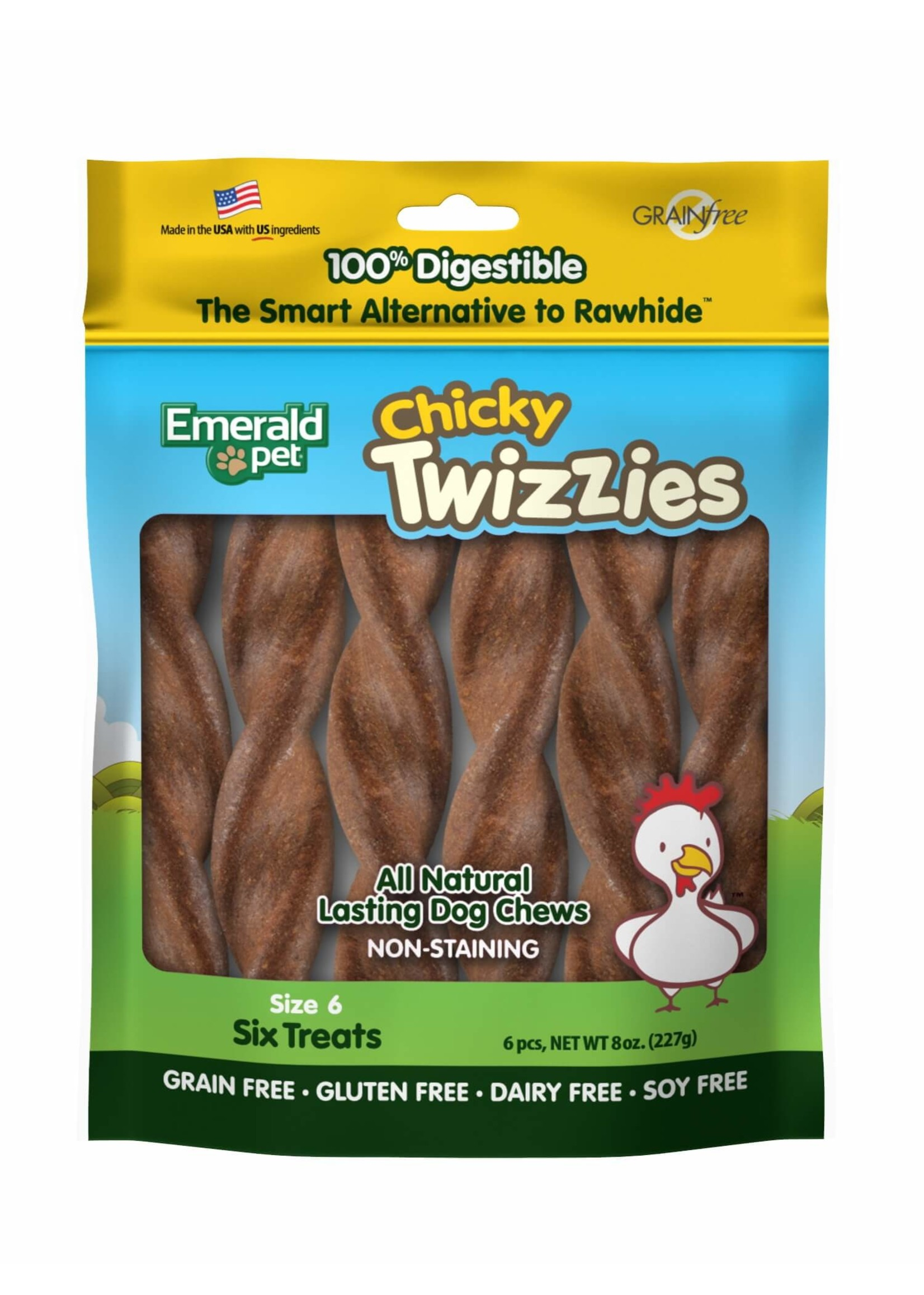 Emerald Pet Emerald Pet Twizzies Natural Dog Chews (Six Pack)