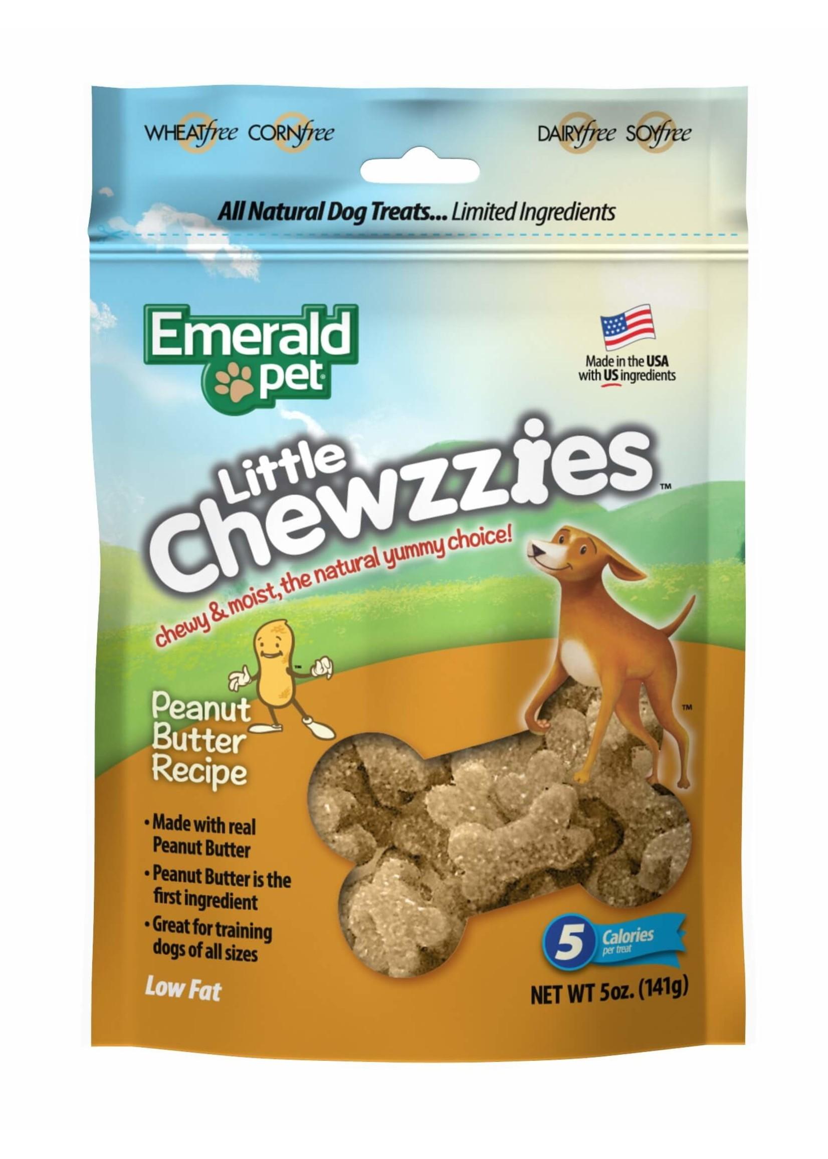 Emerald Pet Emerald Pet Little Chewzzies Chicken Salmon Turducky Peanut Butter 5 oz