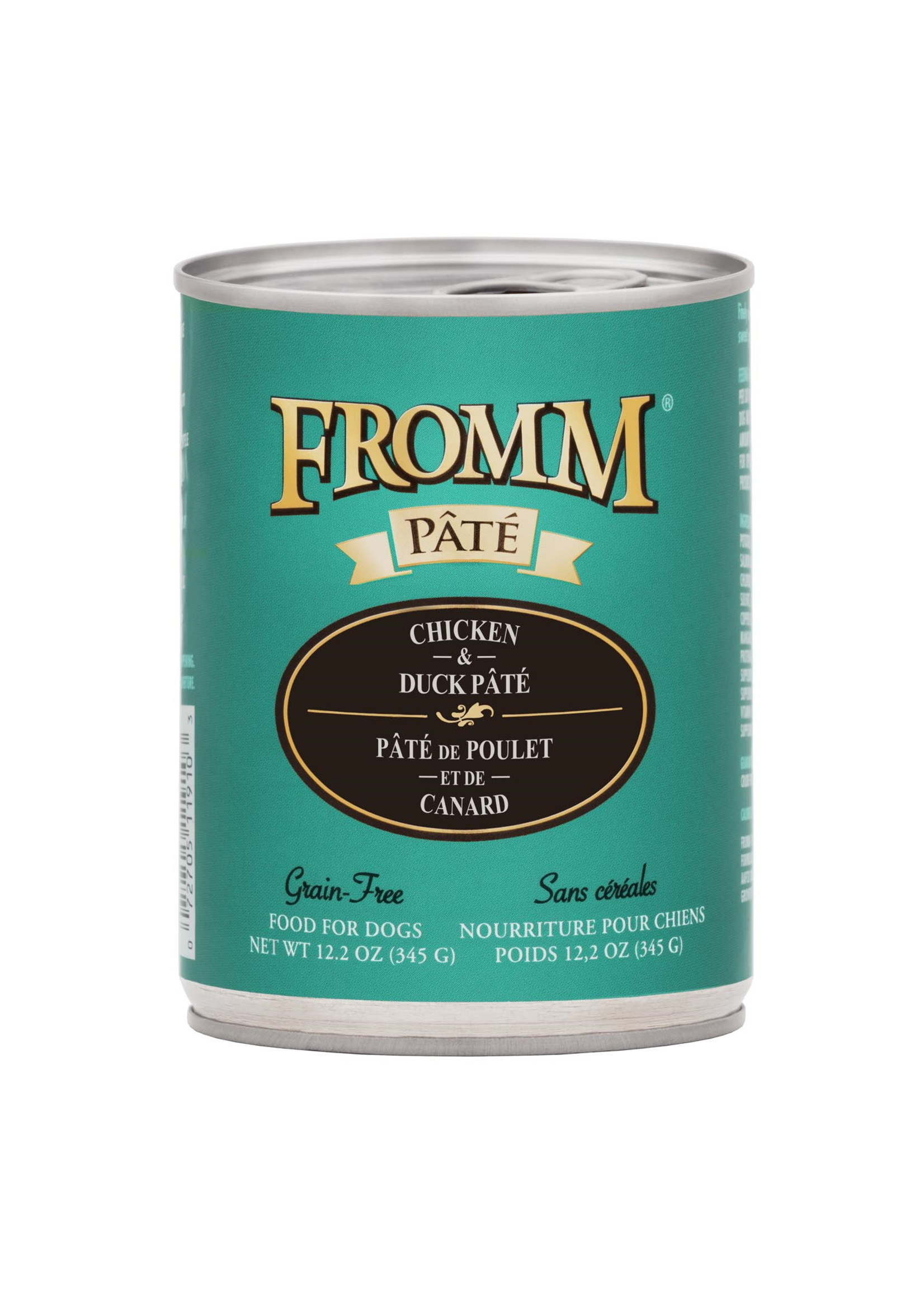 Fromm Fromm Dog GF Chicken & Duck Pate 12.2 oz Can