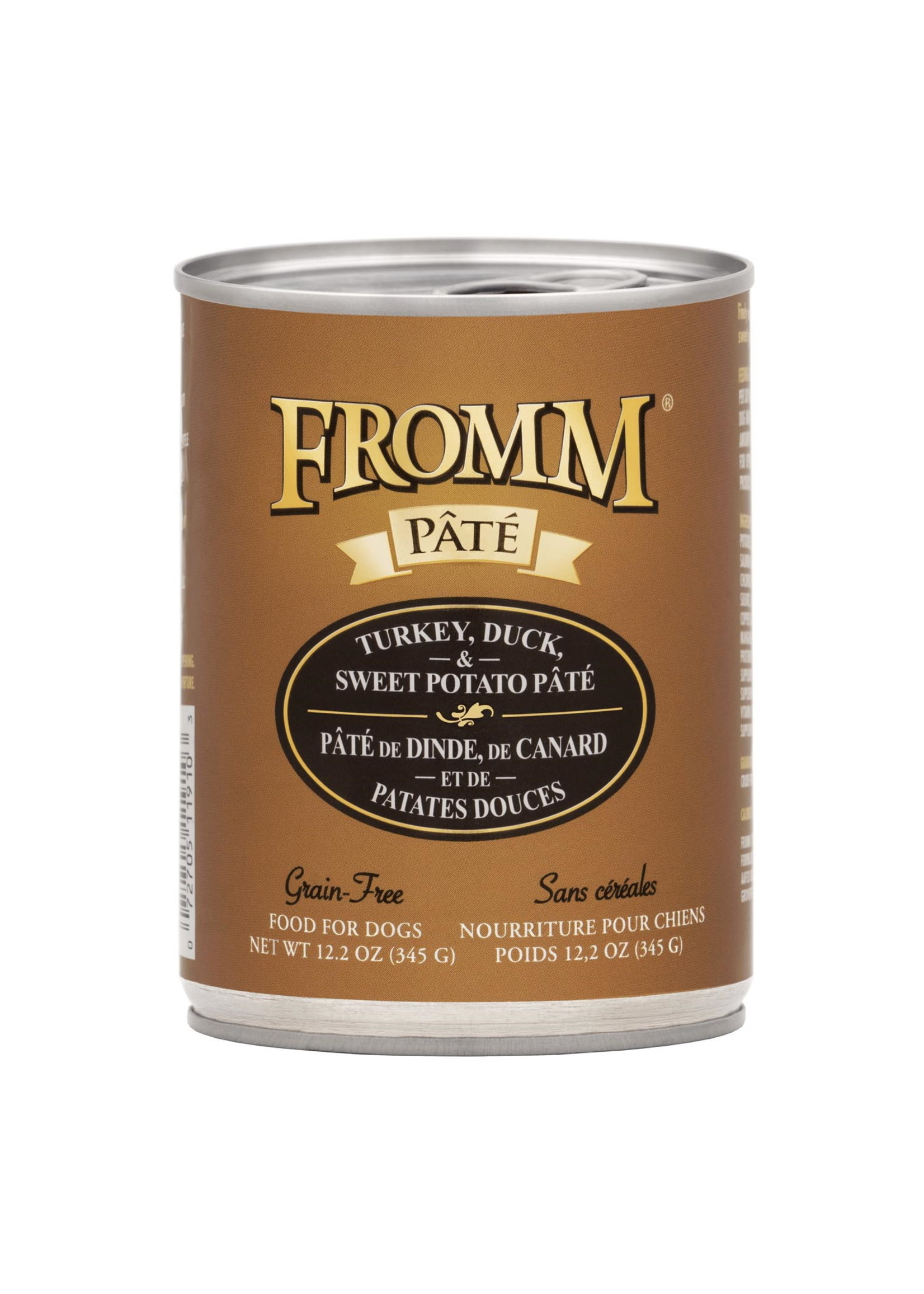 Fromm Fromm Dog GF Turkey, Duck, & SW Potato Pate 12.2 oz Can