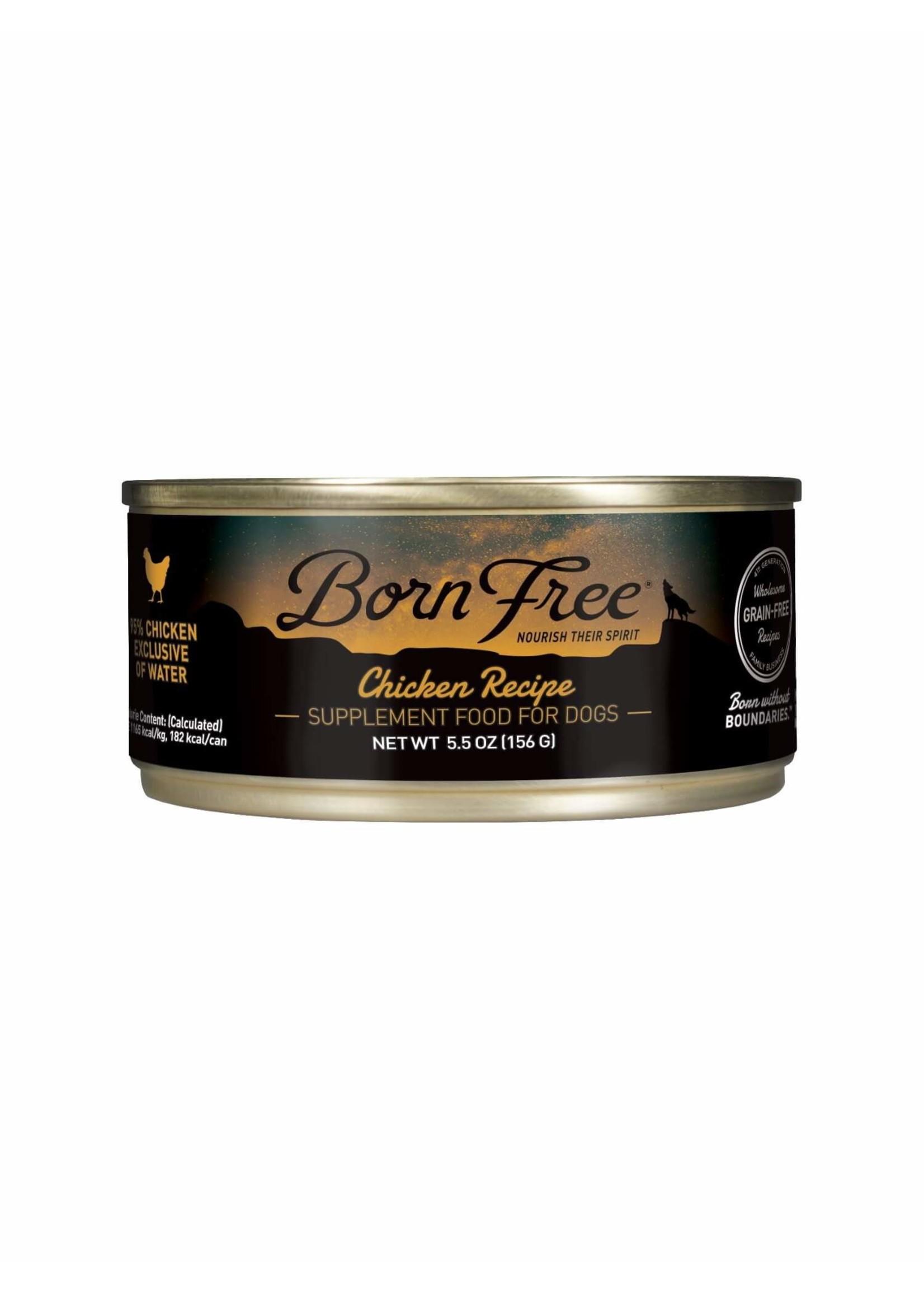 Born Free Born Free Chicken Recipe Wet Dog Food, 5.5oz Can