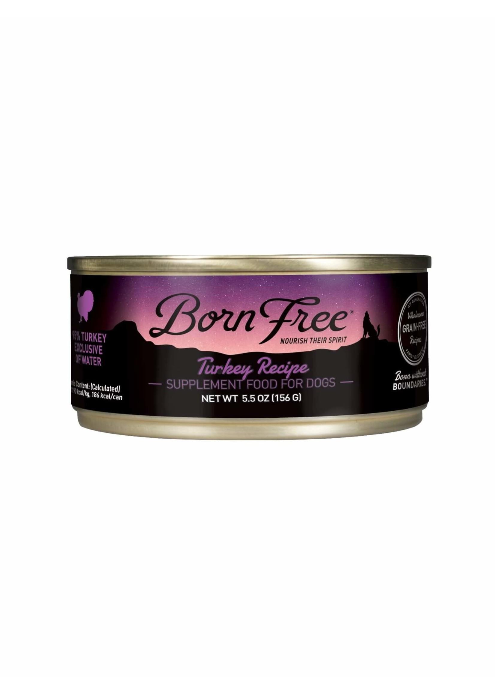Born Free Born Free Turkey Recipe Wet Dog Food, 5.5oz Can
