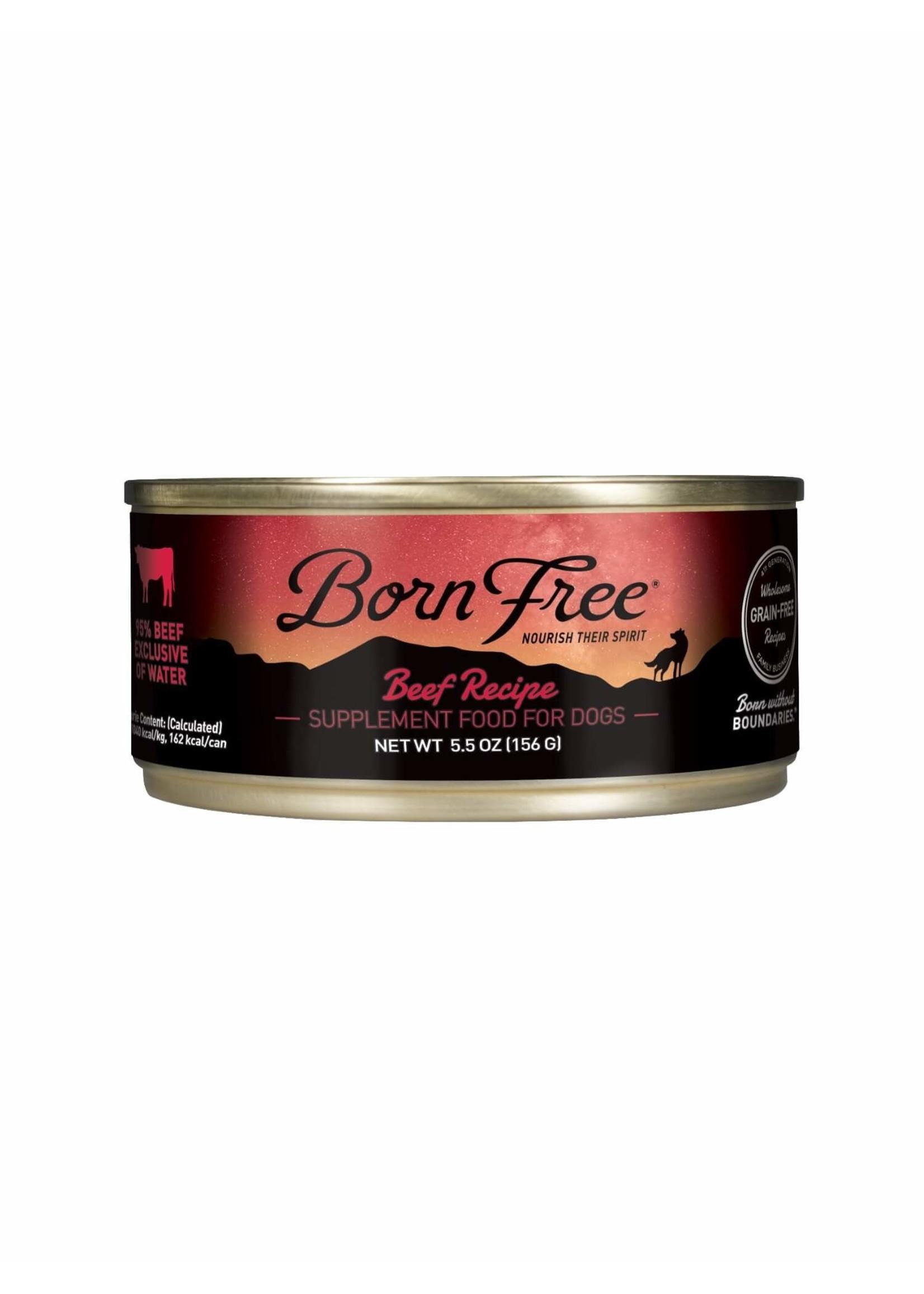Born Free Born Free Beef Recipe Wet Dog Food, 5.5oz Can