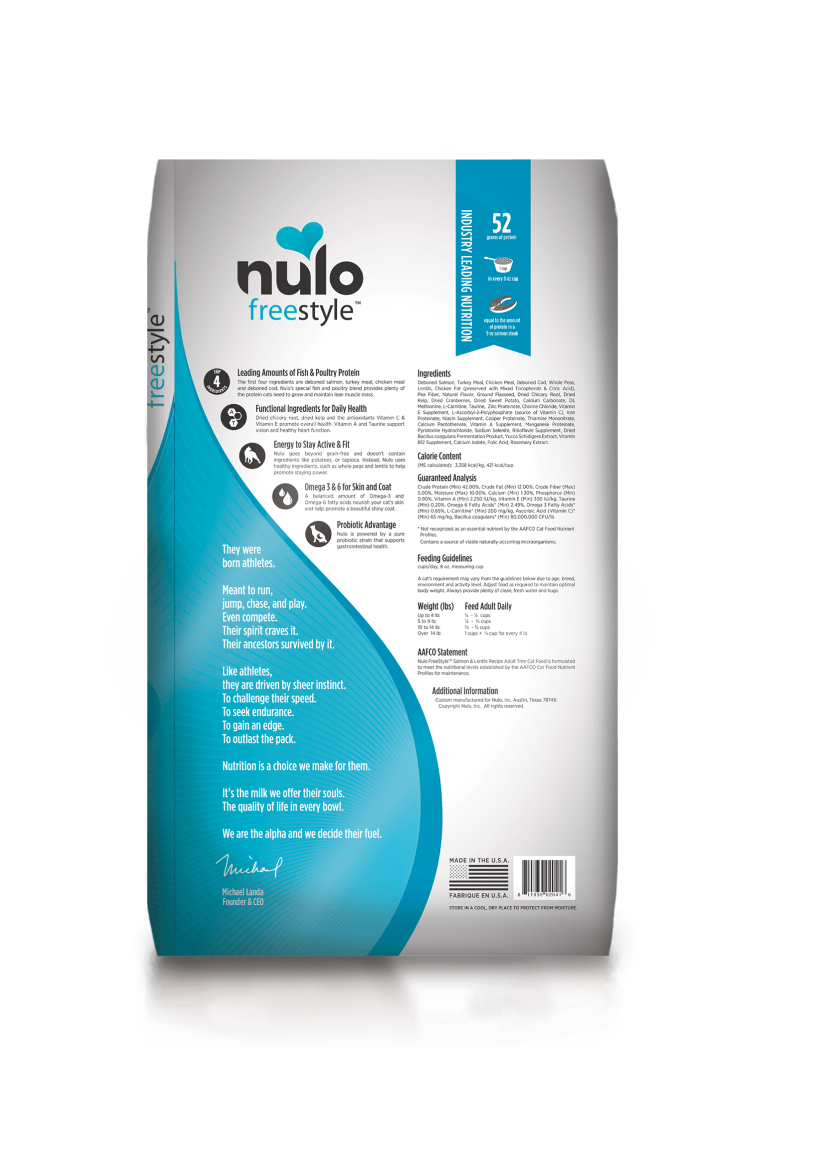 Nulo Nulo FreeStyle Grain Free Adult Trim Salmon & Lentils, 12lb Bag