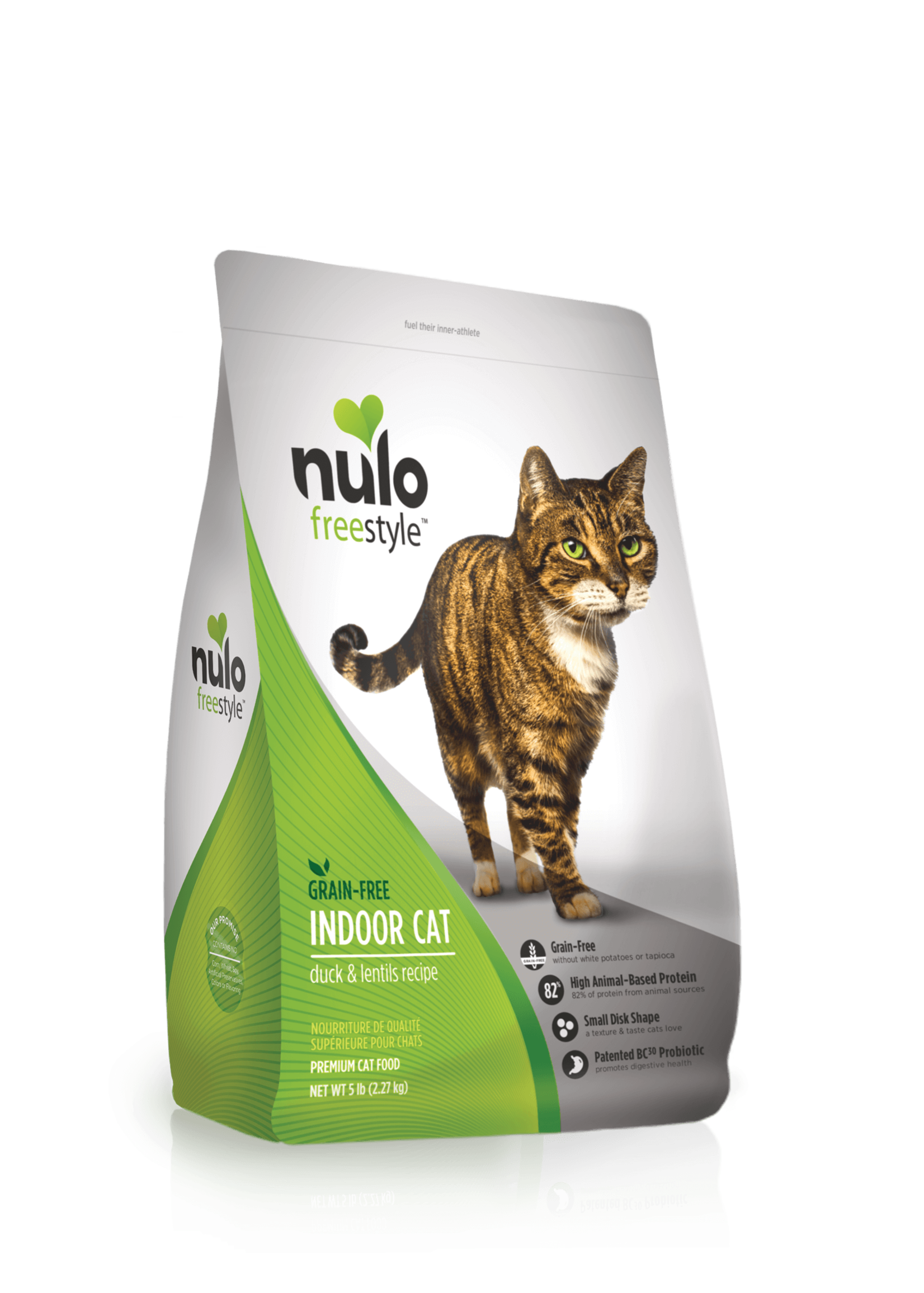 Nulo Nulo FreeStyle Grain Free Indoor Cat Food Duck & Lentils, 5lb Bag