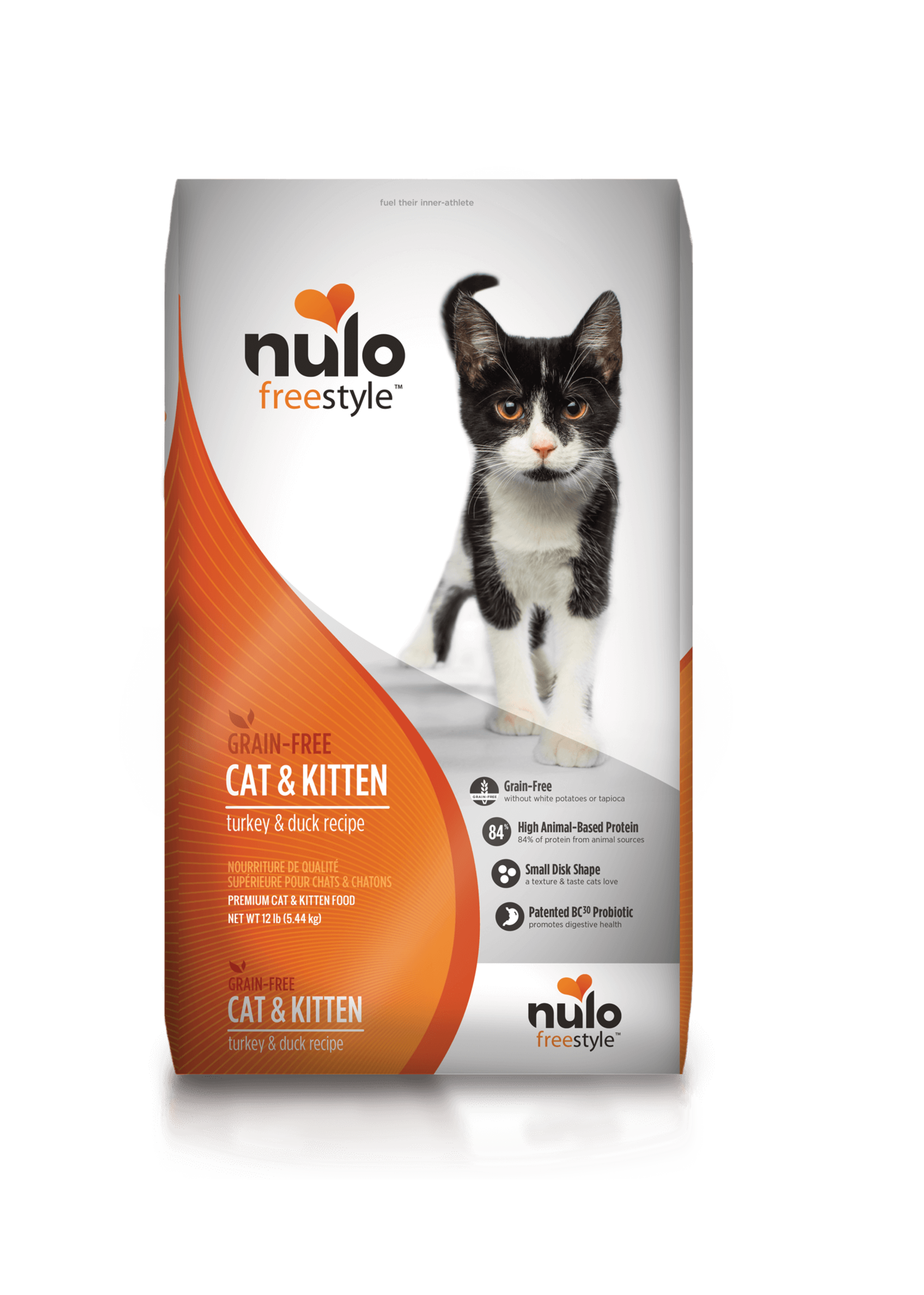 Nulo Nulo FreeStyle Grain Free Cat & Kitten Food Turkey & Duck, 12lb Bag
