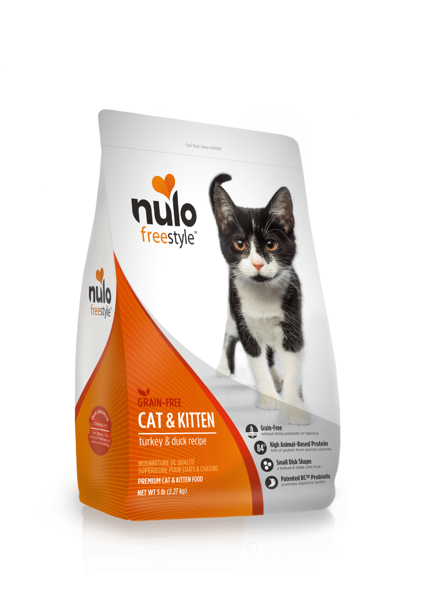 Nulo Nulo FreeStyle Grain Free Cat & Kitten Food Turkey & Duck, 5lb Bag