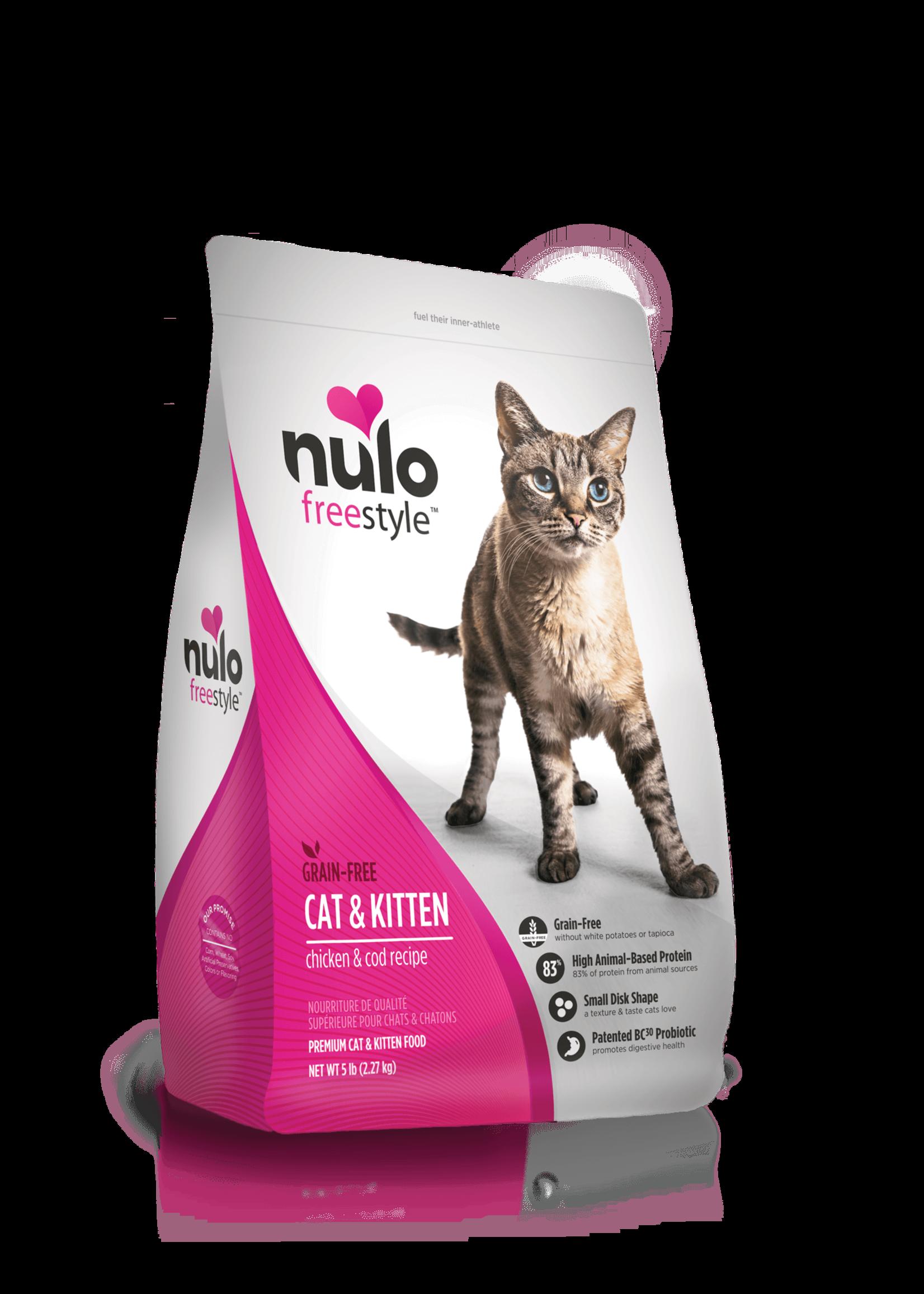 Nulo Nulo FreeStyle Grain Free Cat & Kitten Food Chicken & Cod, 5lb Bag