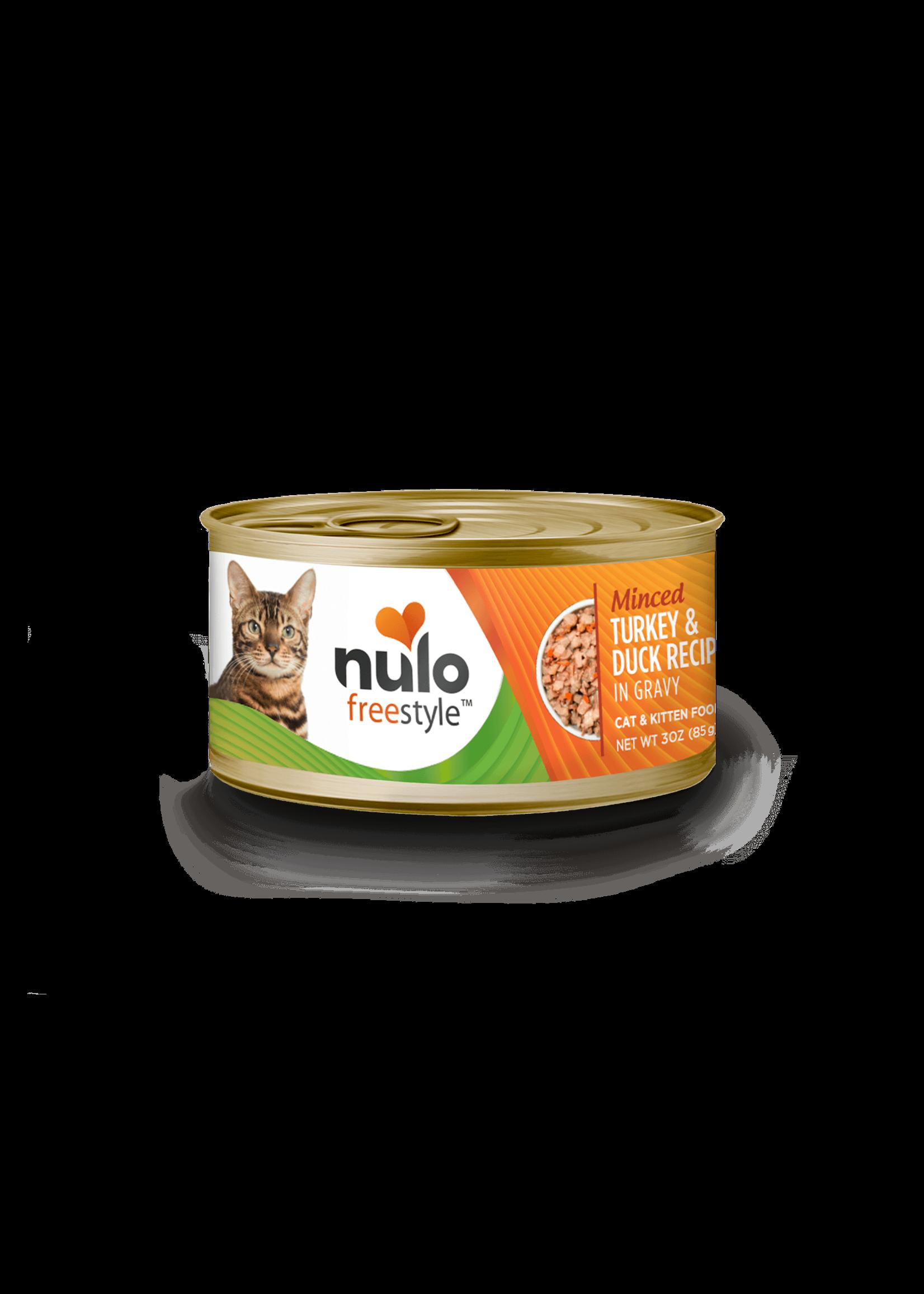 Nulo Nulo FreeStyle Grain Free Cat Food Minced Turkey & Duck in Gravy, 3oz Can