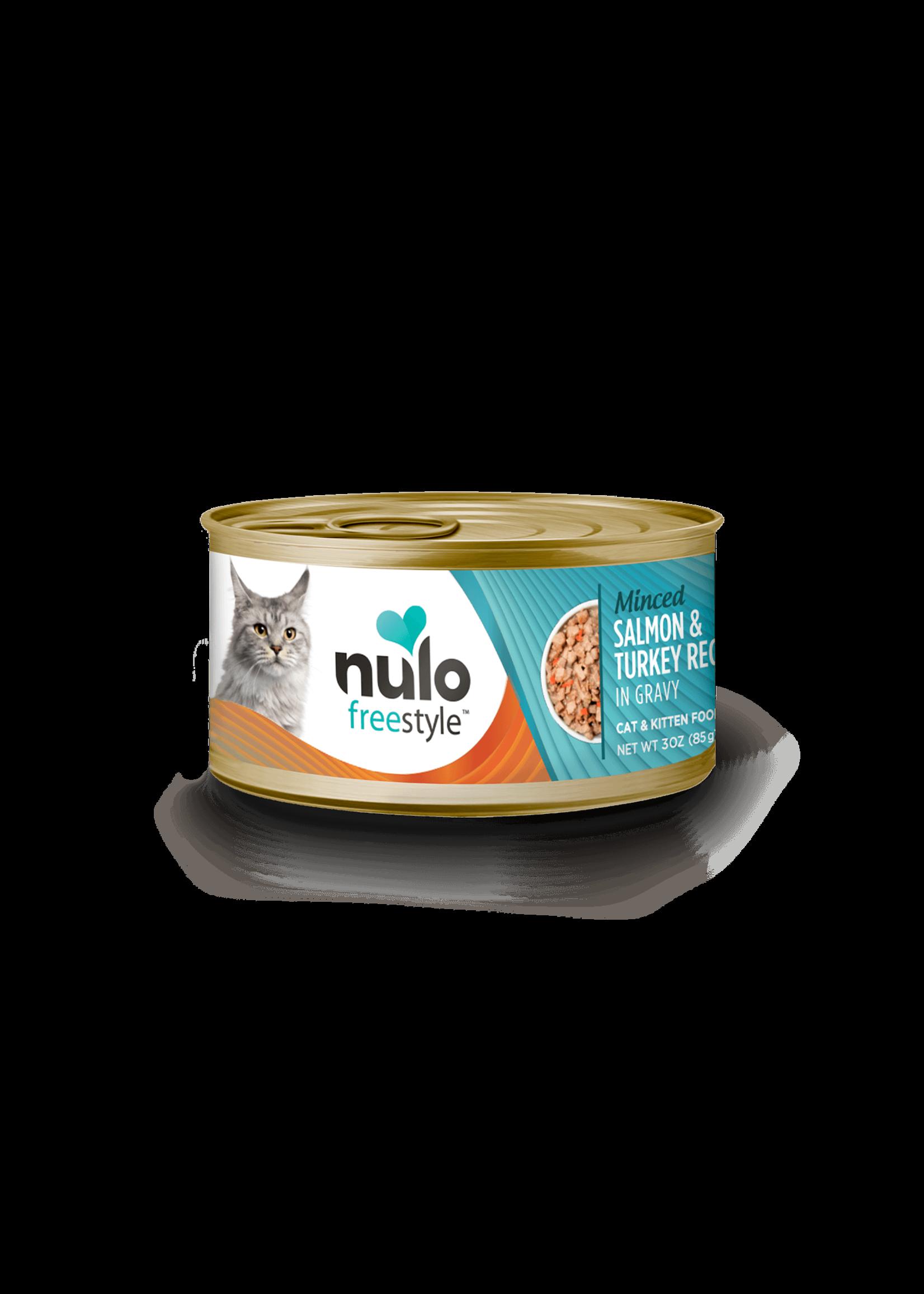 Nulo Nulo FreeStyle Grain Free Cat Food Minced Salmon & Turkey in Gravy, 3oz Can