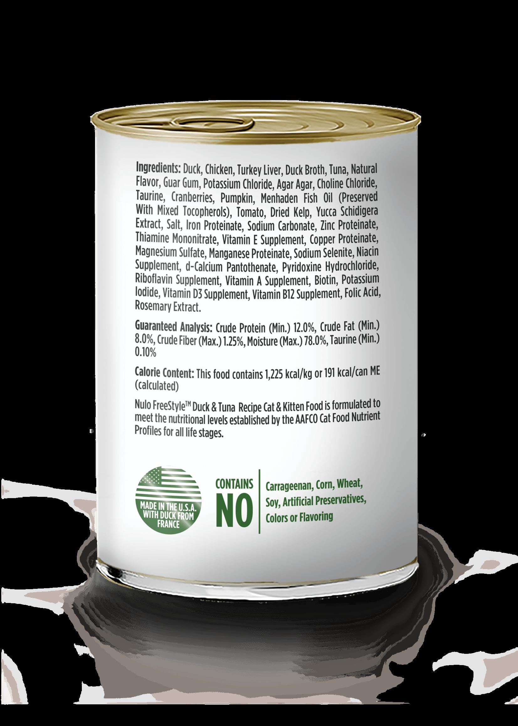 Nulo Nulo FreeStyle Grain Free Cat Food  Duck & Tuna, 12.5oz Can
