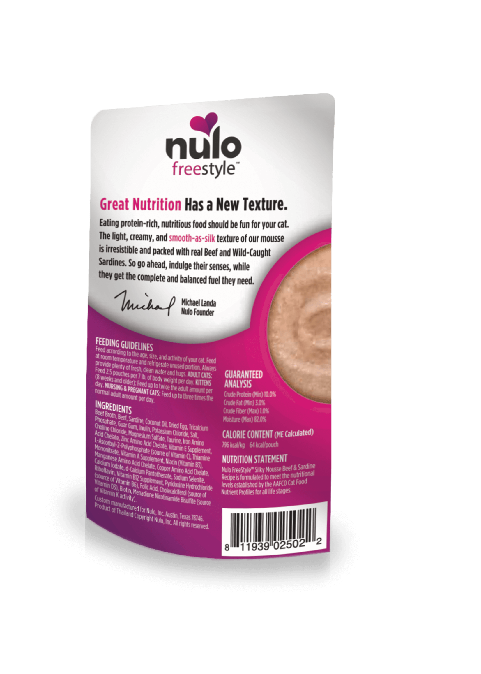 Nulo Nulo FreeStyle Grain Free Cat Silky Mousse Beef & Sardine