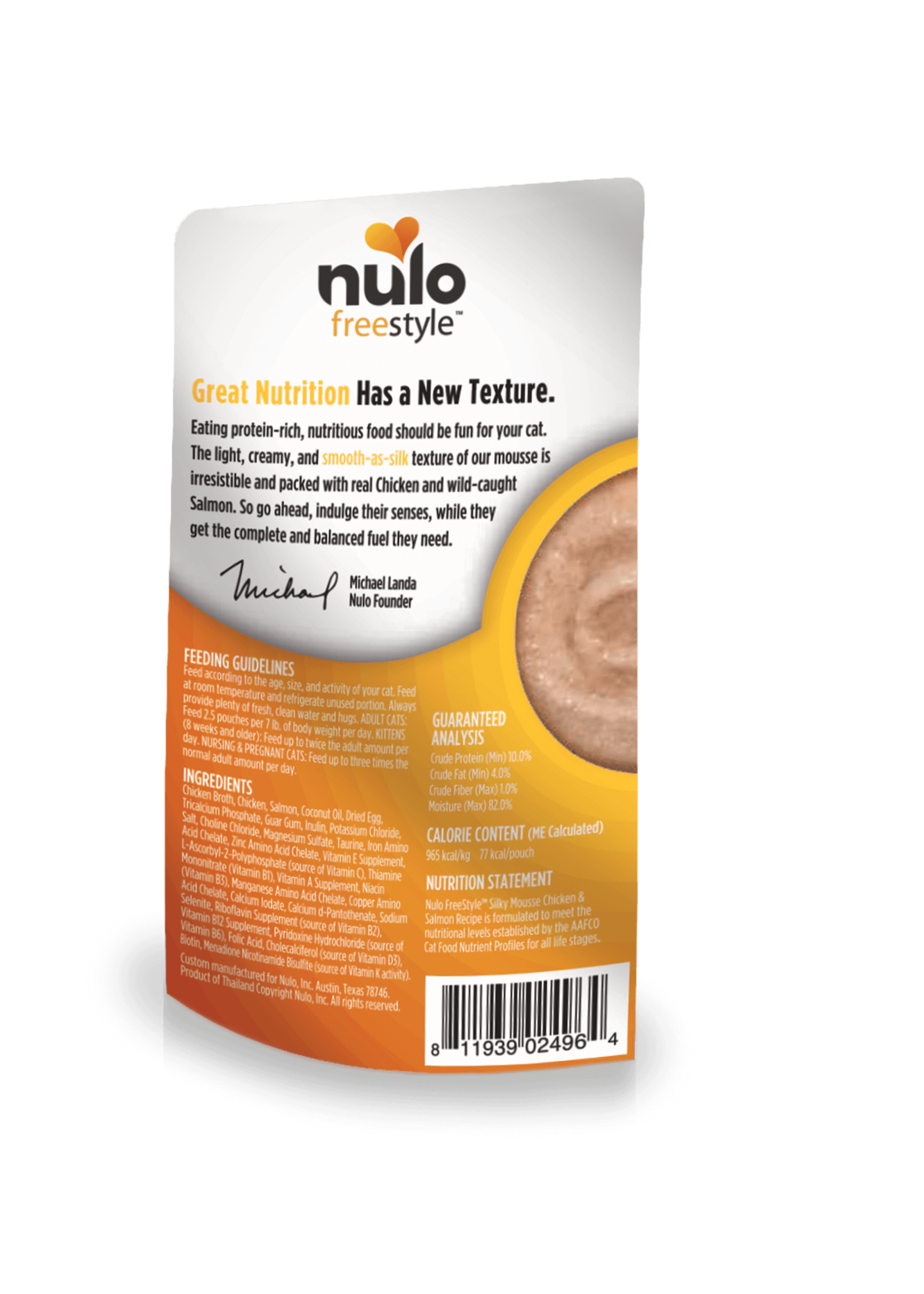 Nulo Nulo FreeStyle Grain Free Cat Silky Mousse Chicken & Salmon
