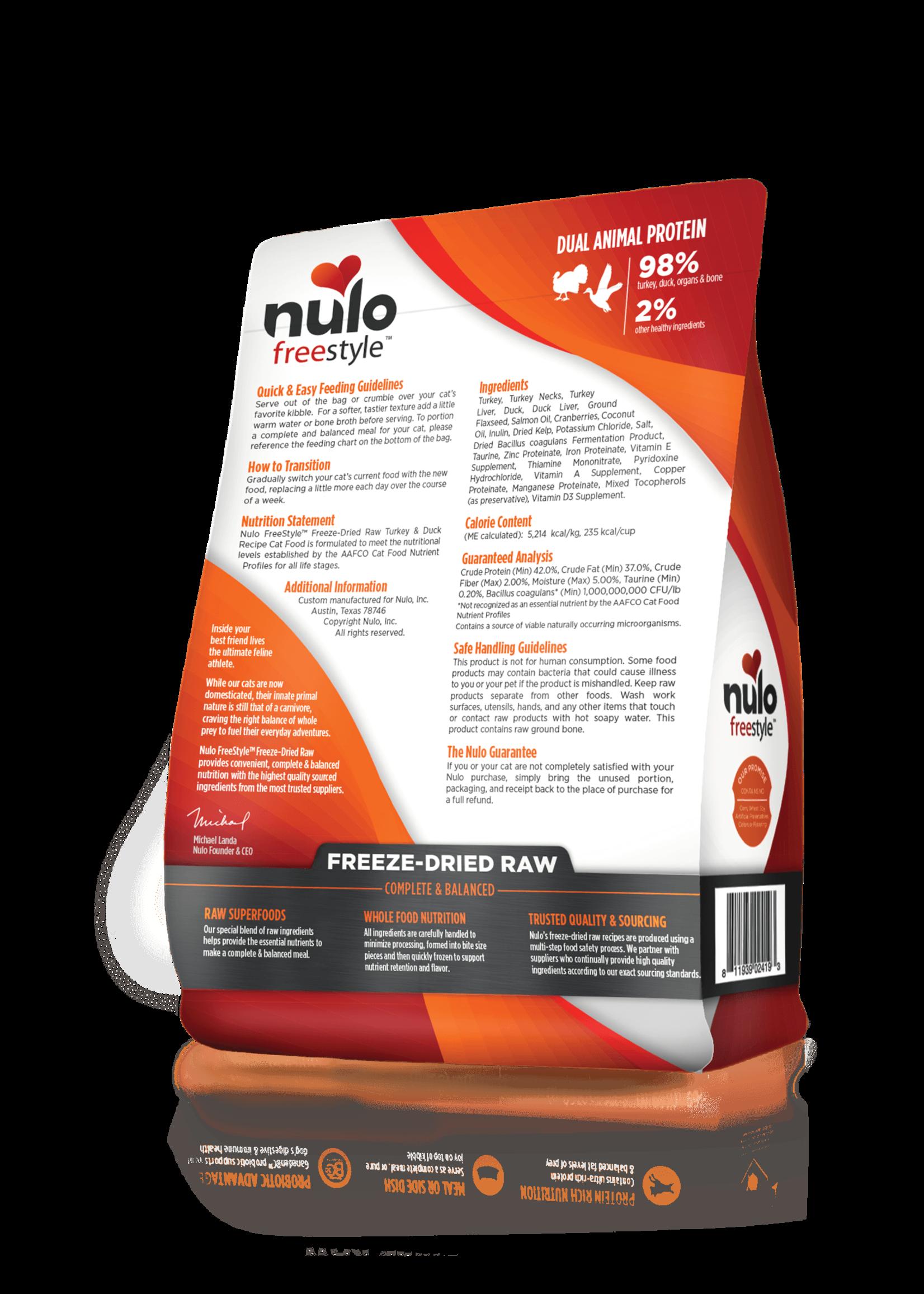 Nulo Nulo FreeStyle Grain Free Cat Freeze Dried Turkey & Duck, 8oz