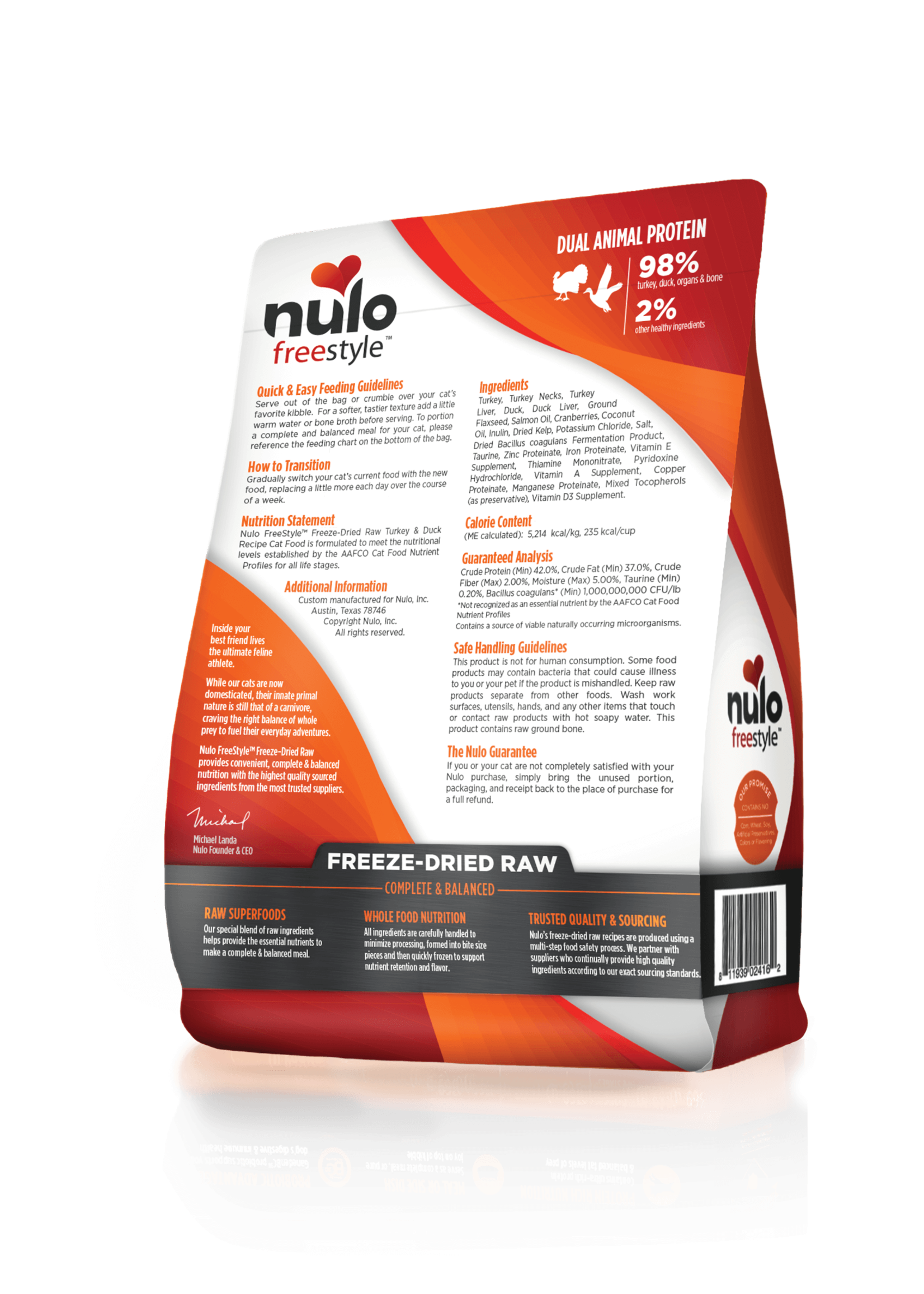 Nulo Nulo FreeStyle Grain Free Cat Freeze Dried Turkey & Duck, 3.5oz
