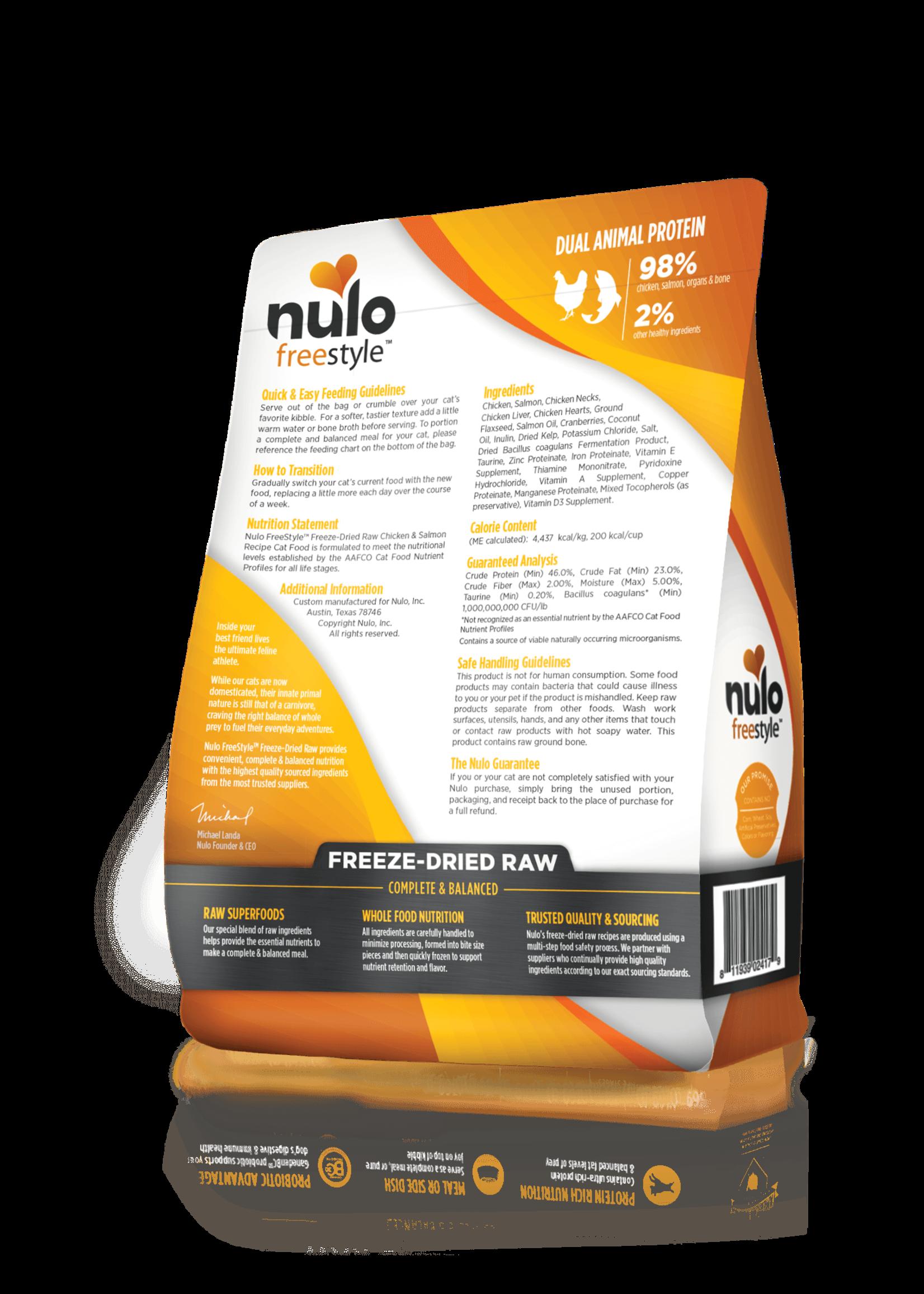 Nulo Nulo FreeStyle Grain Free Cat Freeze Dried Chicken & Salmon, 3.5oz