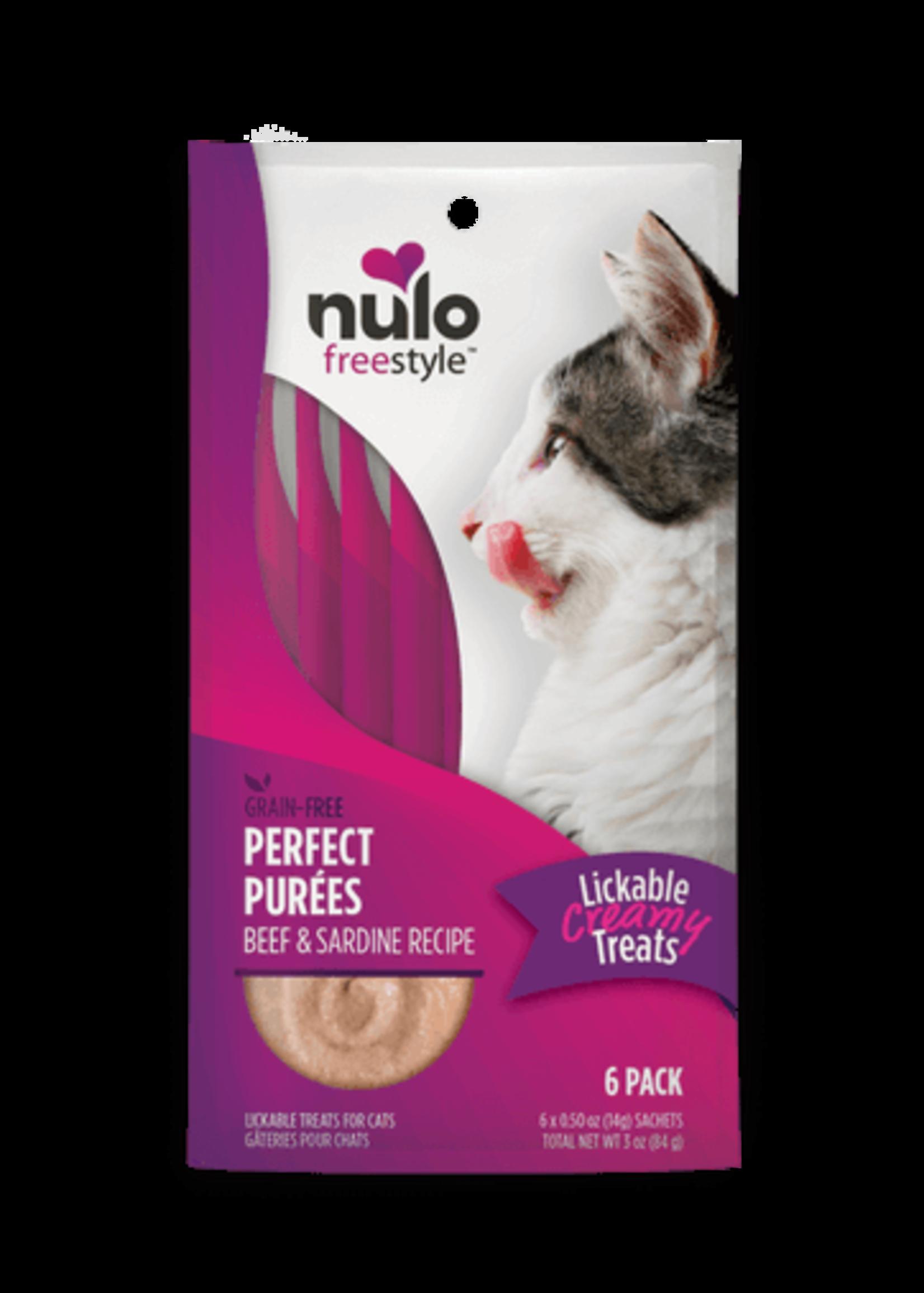 Nulo Nulo FreeStyle Cat Puree GF Beef & Sardine 0.5oz 6 Pack
