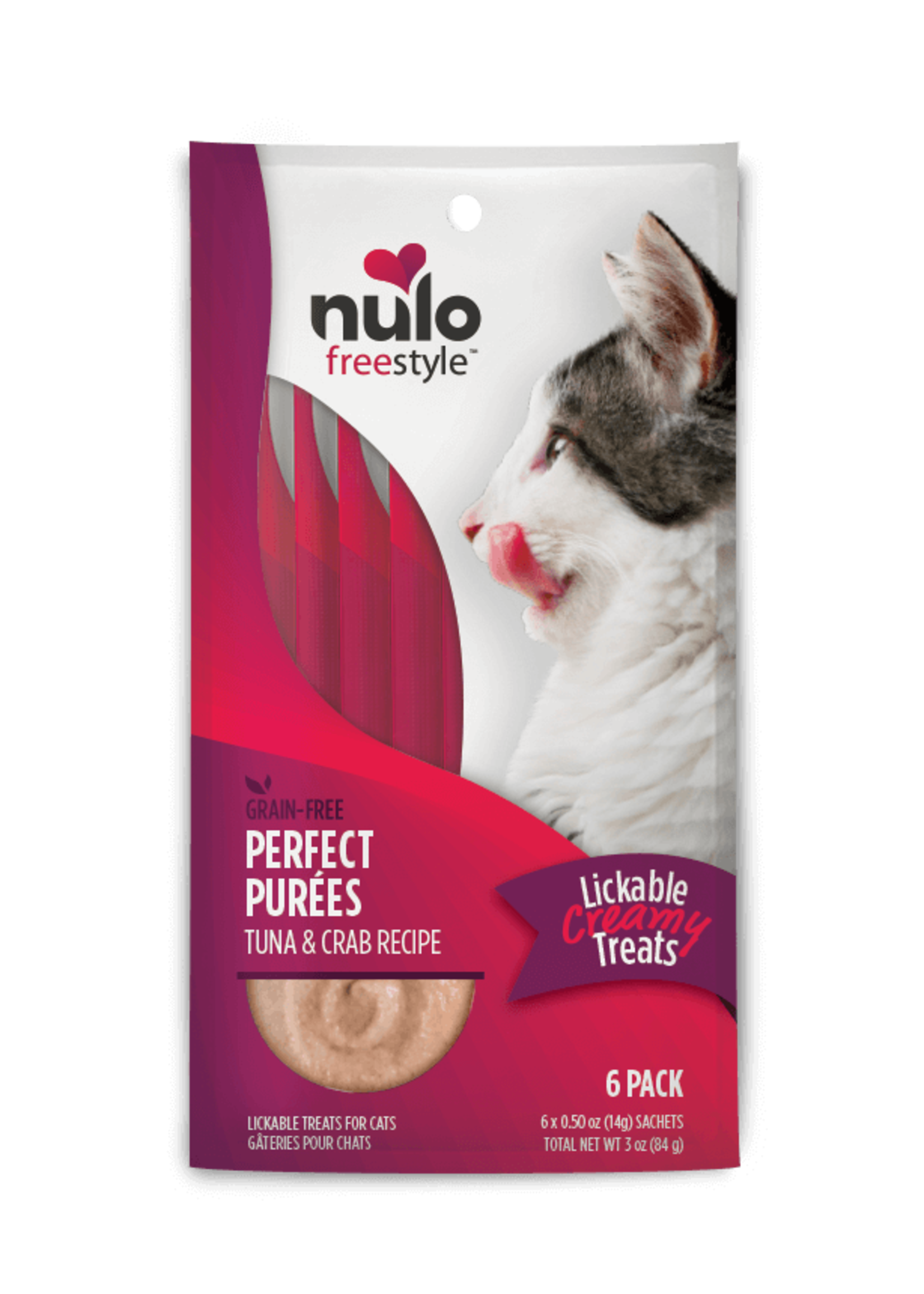 Nulo Nulo FreeStyle Cat Puree GF Tuna & Crab 0.5oz 6 Pack