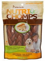 "Nutri Chomps Nutri Chomps 6"" Chicken Flavor Braid, 4ct"