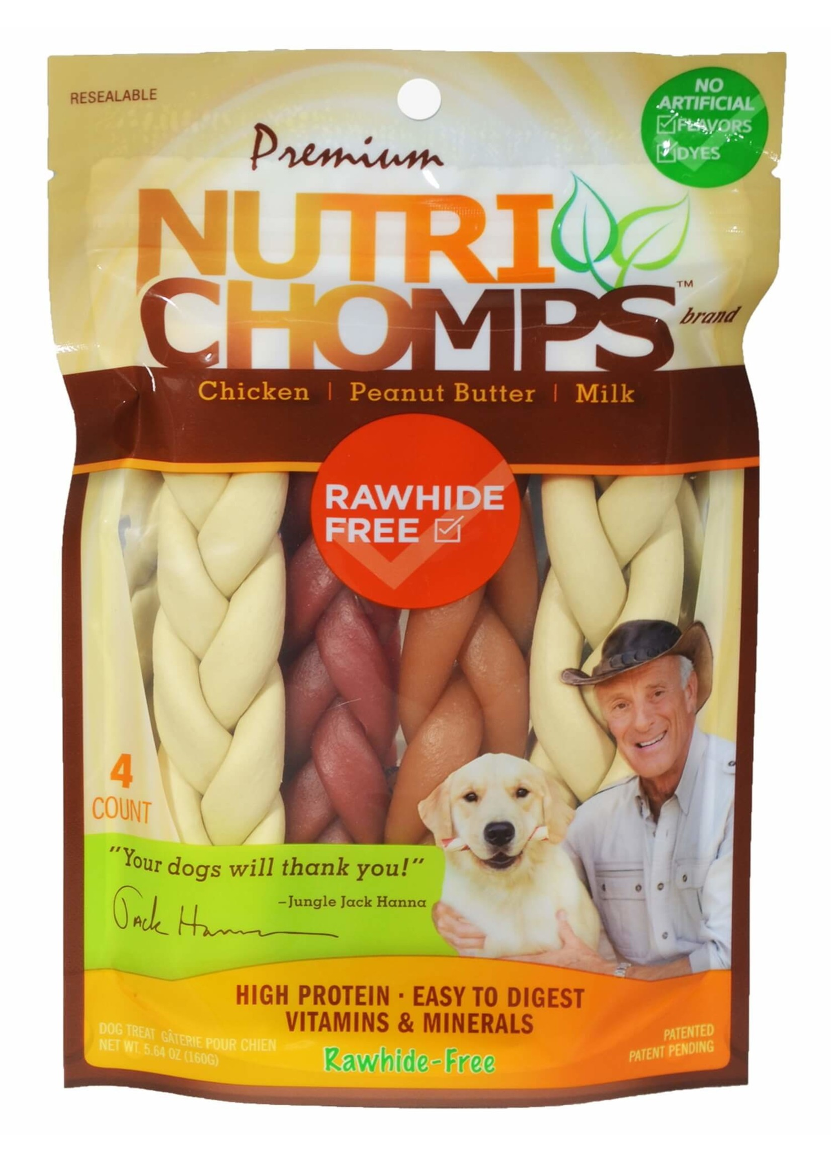 Nutri Chomps Nutri Chomps Assorted 6'' Braids 4 ct