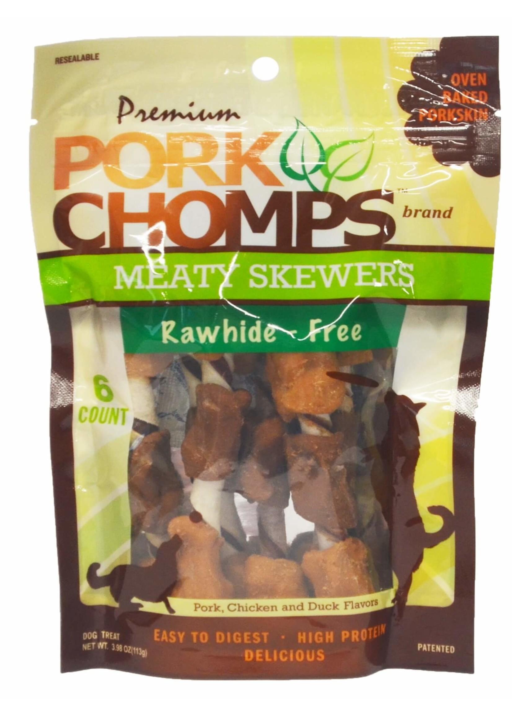 Pork Chomps Pork Chomps Meaty Skewers, 6ct