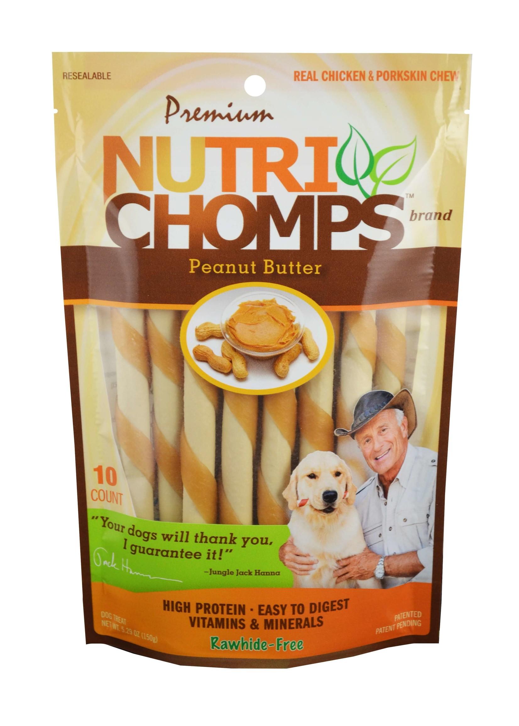 Nutri Chomps Nutri Chomps Peanut Butter Mini Twists 10 ct