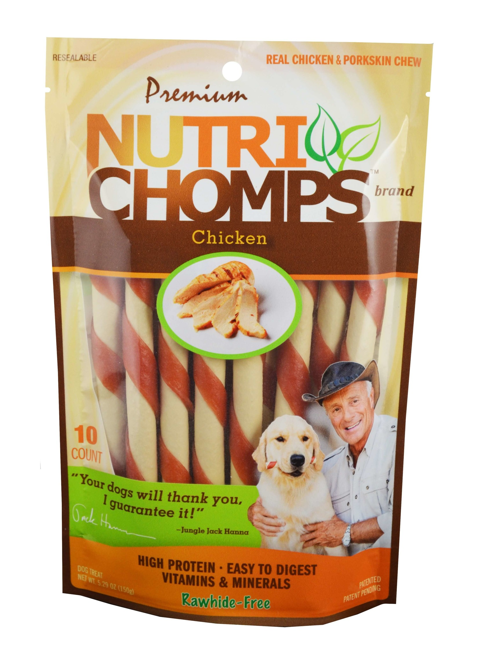Nutri Chomps Nutri Chomps Chicken Flavor Mini Twist 10 ct