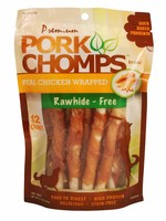 Pork Chomps Pork Chomps Real Chicken Wrapped Mini Twist 12 ct