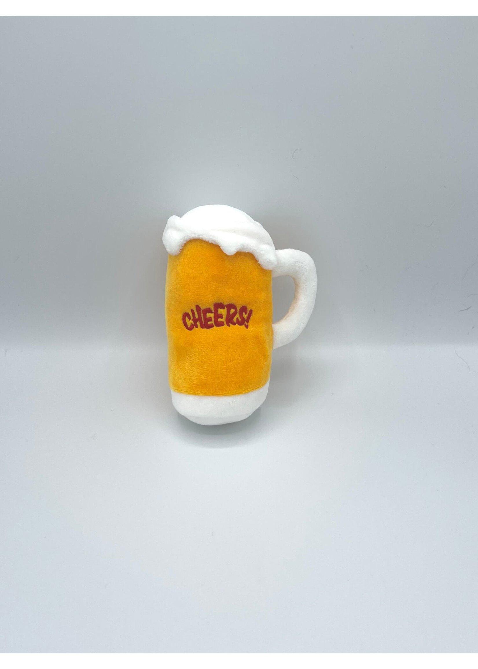 Beer Mug Plush Dog Toy