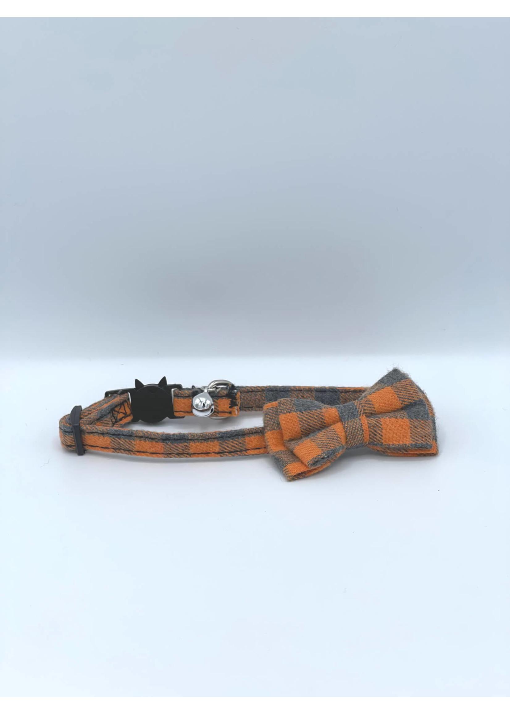 Cat Bow Tie Collar w/ Bell, Plaid