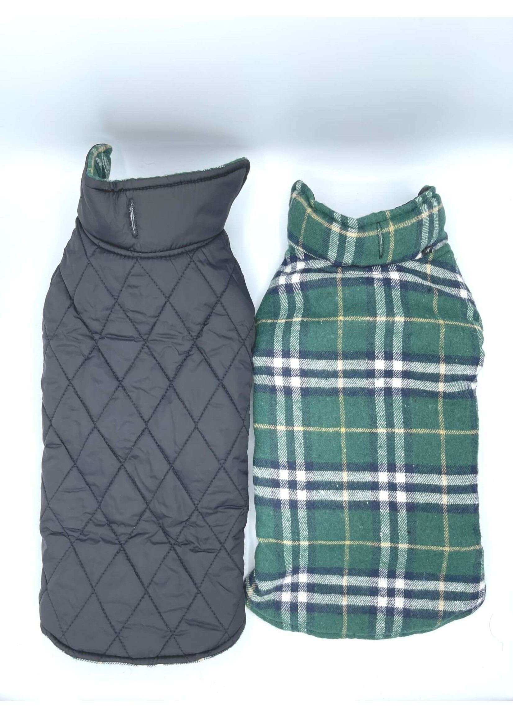 Quilted Pattern Reversible Dog Jacket