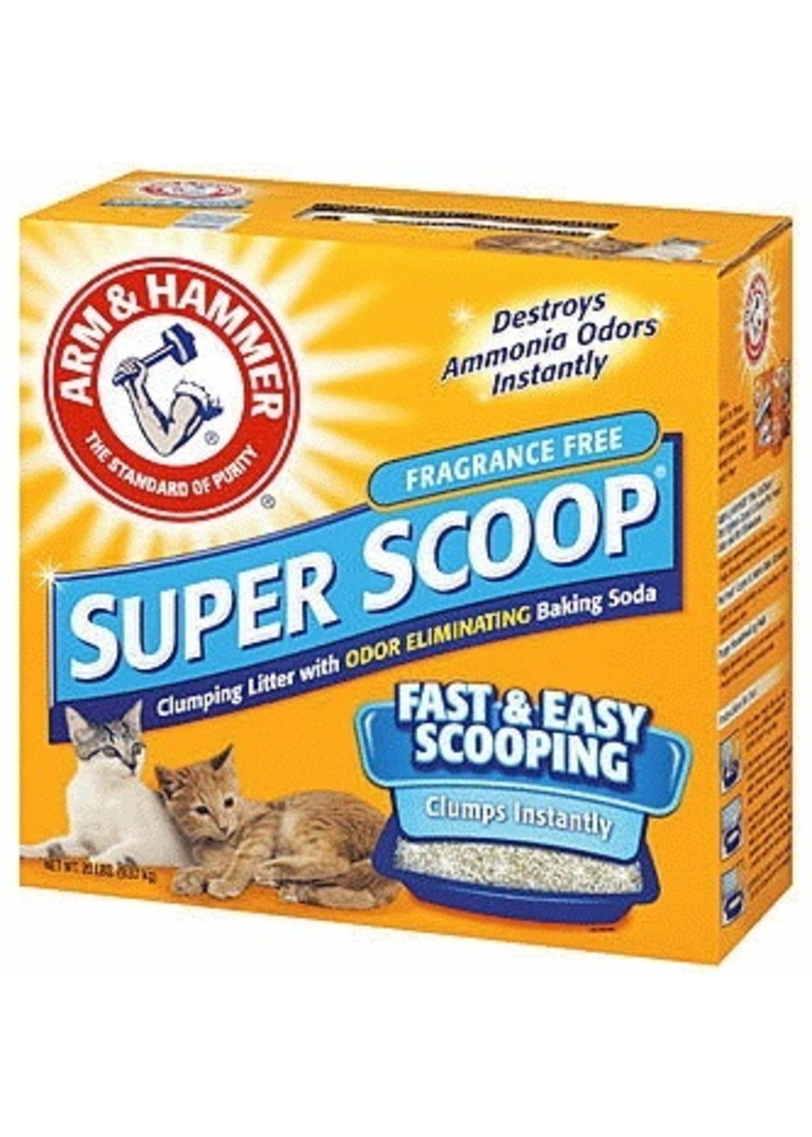Arm and Hammer Arm & Hammer Super Scoop-Unscented Cat Litter 20 lb
