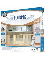 Four Paws Four Paws 3 Panel Smart Folding Wooden Gate 24-68in x 17in