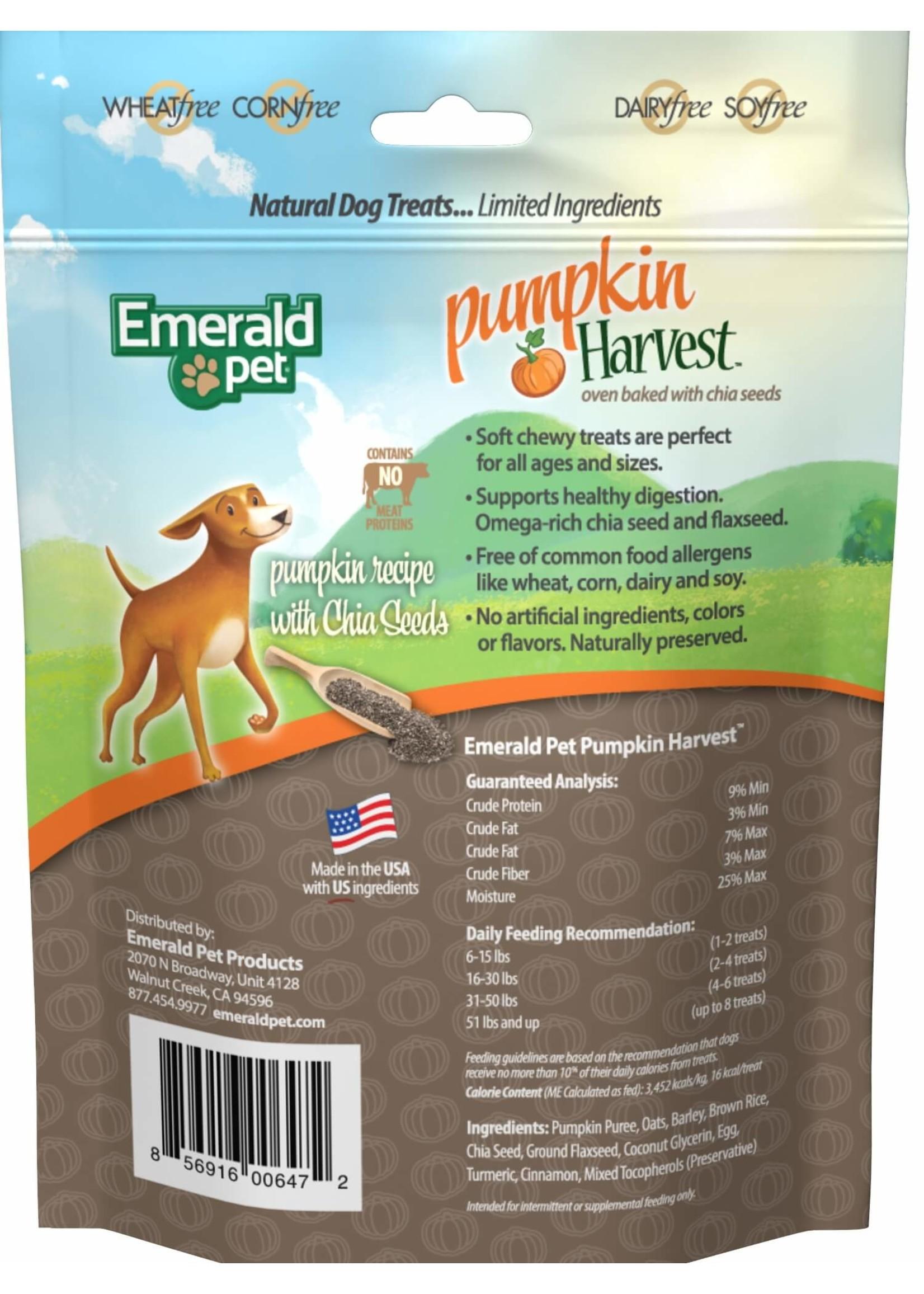 Emerald Pet Emerald Pet Pumpkin Harvest Chews with Apple Dog Treat6 oz
