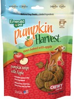Emerald Pet Emerald Pet Pumpkin Harvest Chews with Apple Dog Treat 6 oz