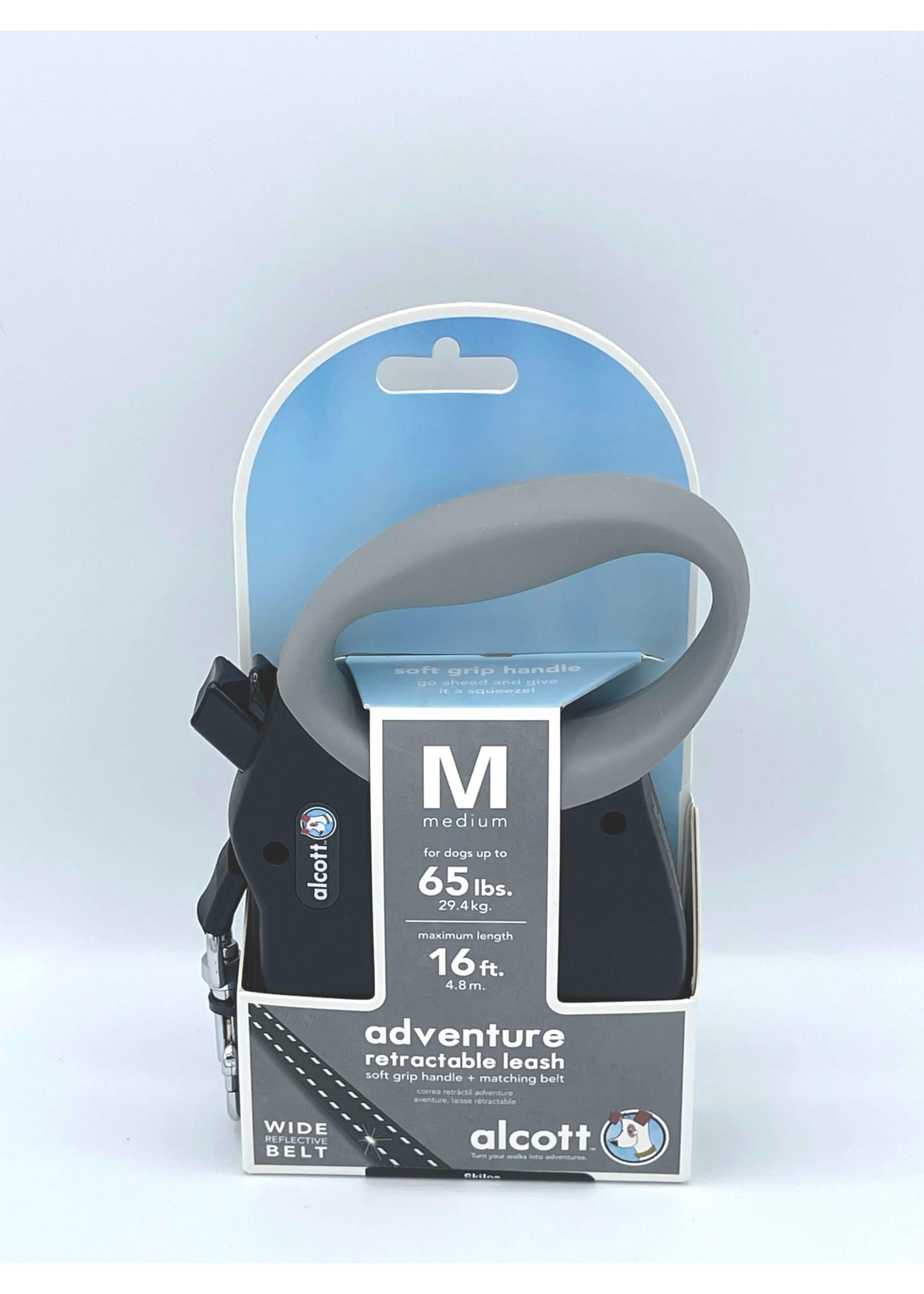 Alcott Alcott™ Adventure Retractable Leash Black Medium Up to 65 lbs