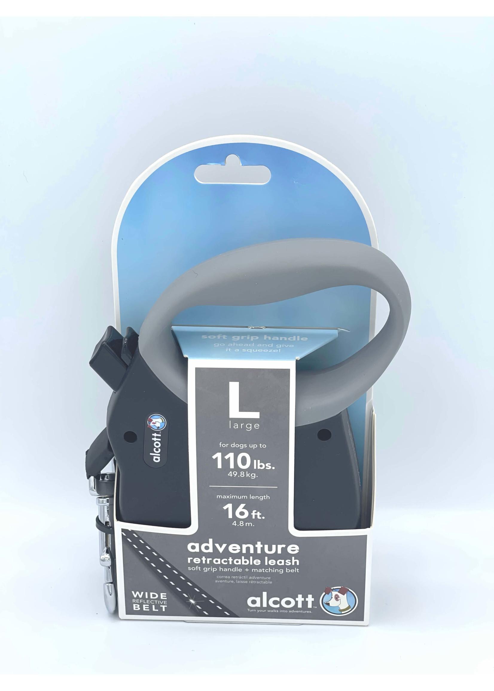 Alcott Alcott™ Adventure Retractable Leash Black Large Up to 110 lbs