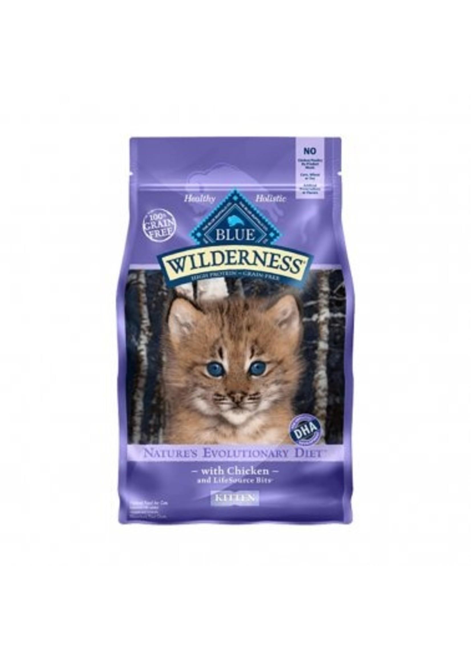Blue Buffalo Blue Wilderness™ Nature's Evolutionary Diet Grain Free Chicken Kitten Cat Food 5 Lbs