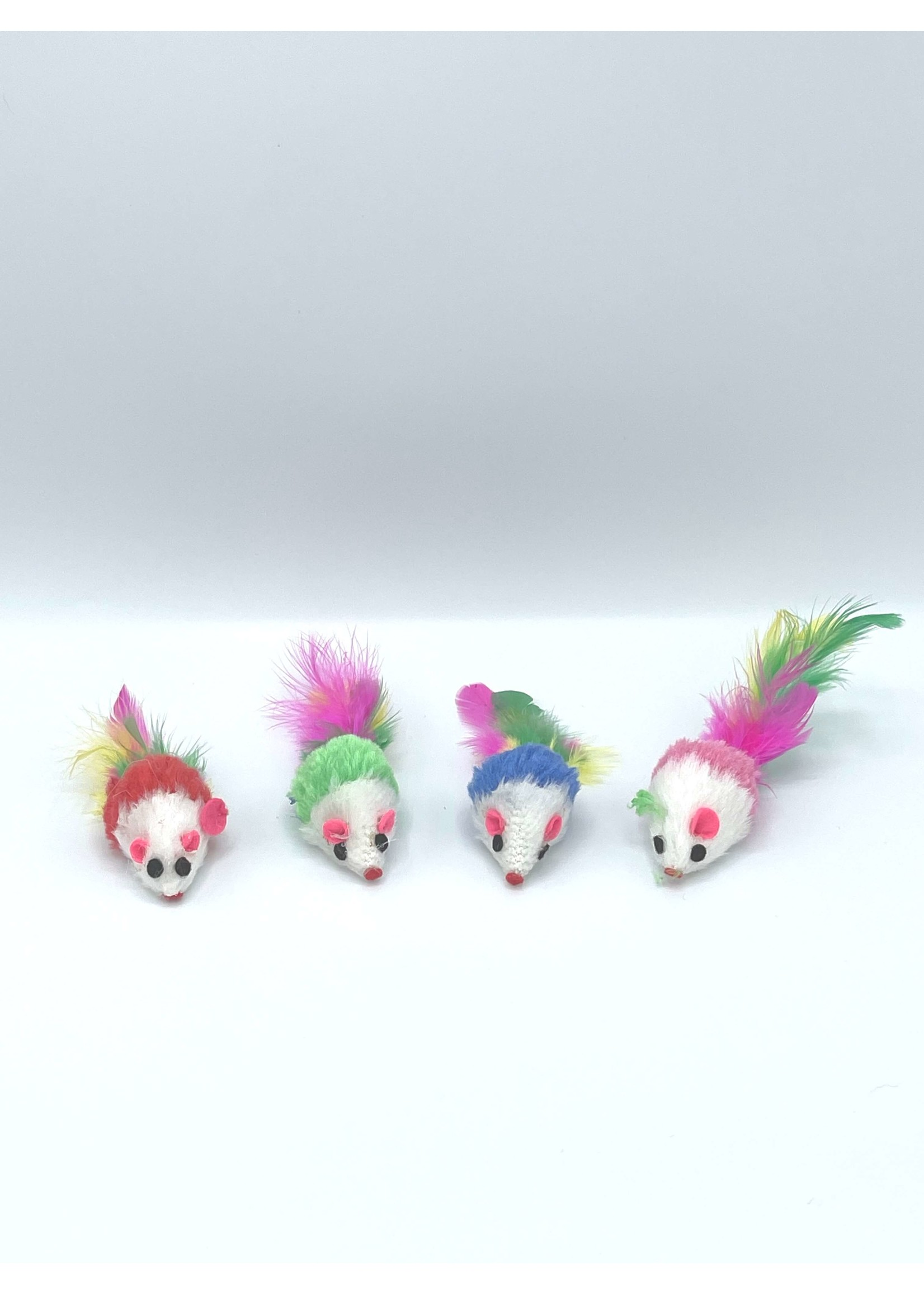 Cat Toy Mouse w/ Feather Tail