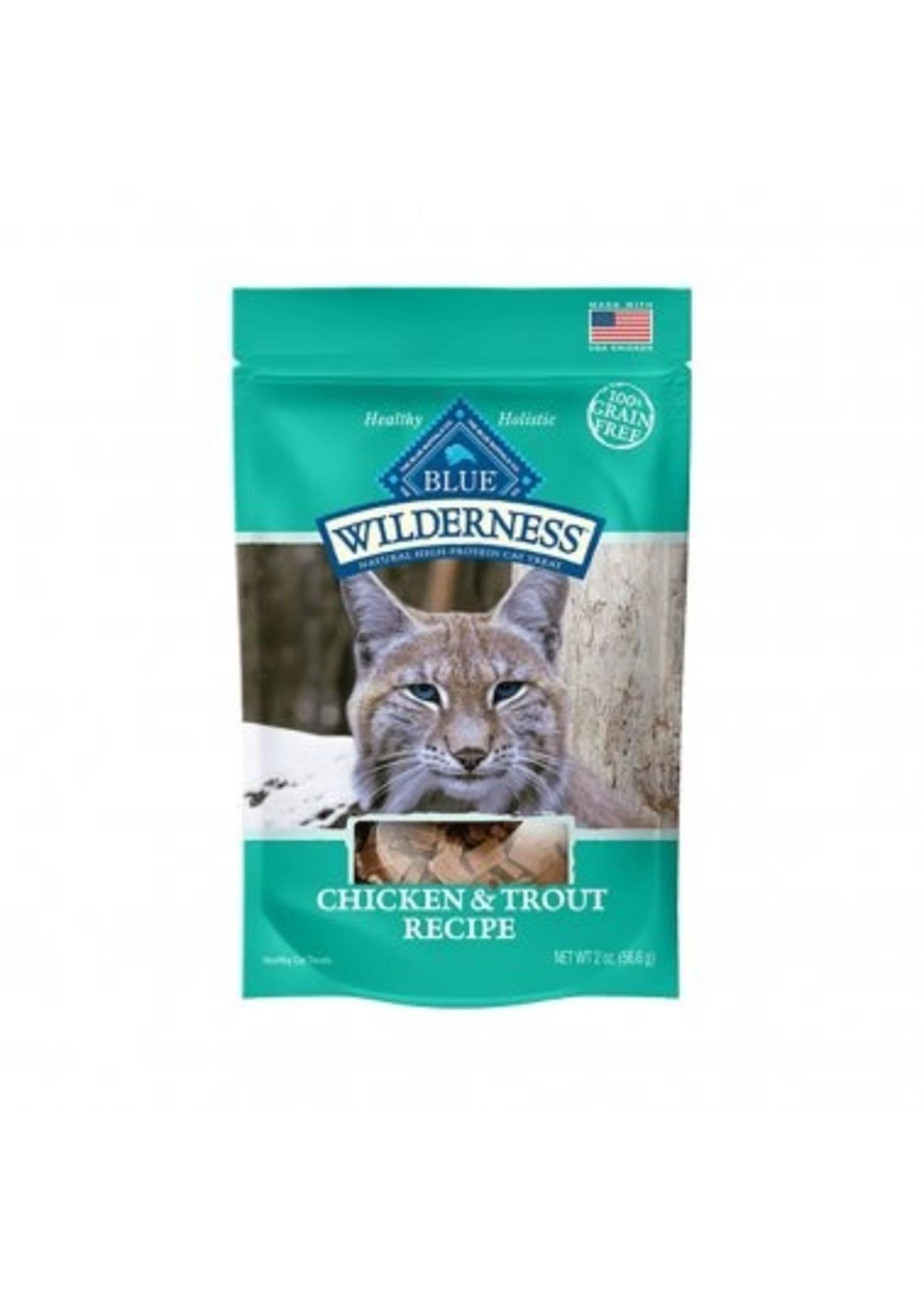Blue Buffalo Blue Wilderness Grain Free Chicken & Trout Soft-Moist Cat Treats