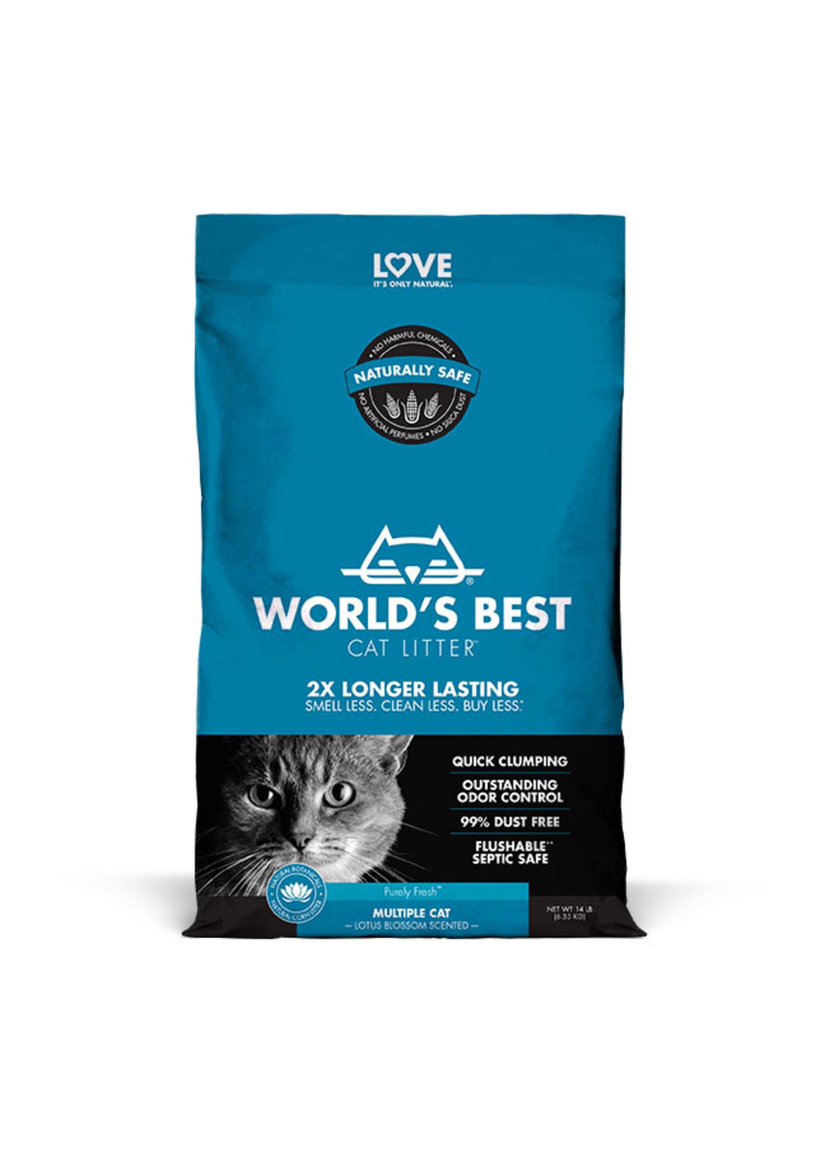 World's Best Cat Litter World's Best Cat Litter Multiple Cat Lotus Blossom