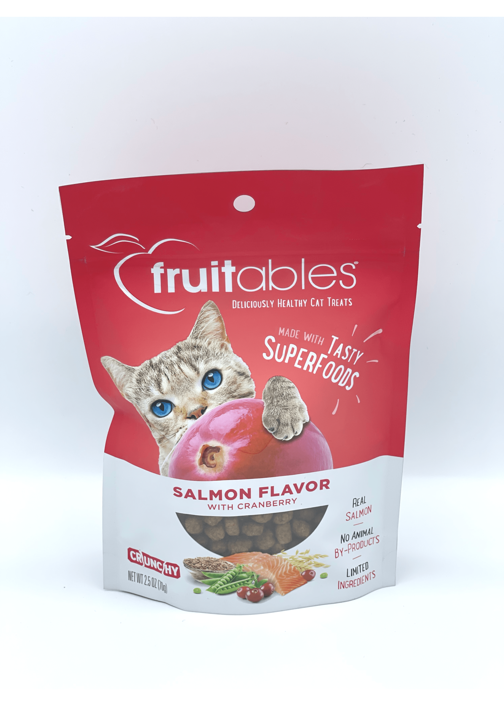 Fruitables Fruitables Salmon with Cranberry Crunchy Cat Treat