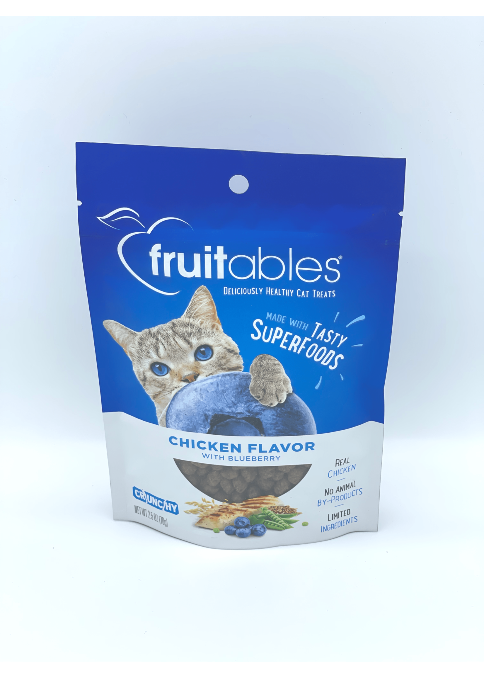 Fruitables Fruitables Chicken with Blueberry Crunchy Cat Treat