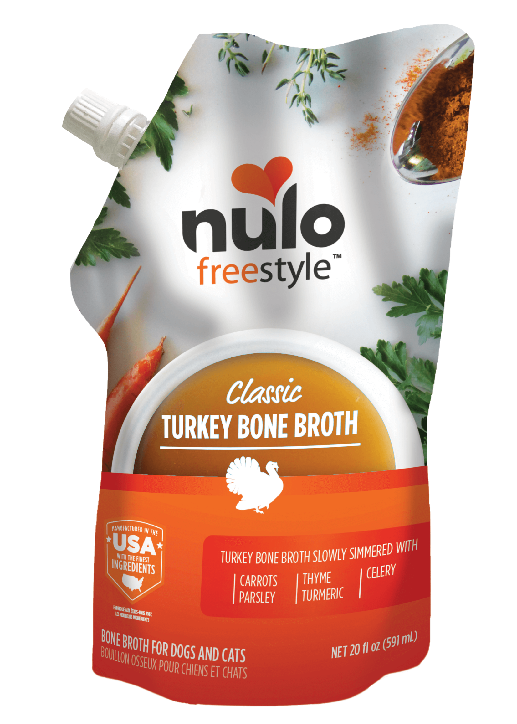 Nulo Nulo Freestyle Turkey Bone Broth, 20oz