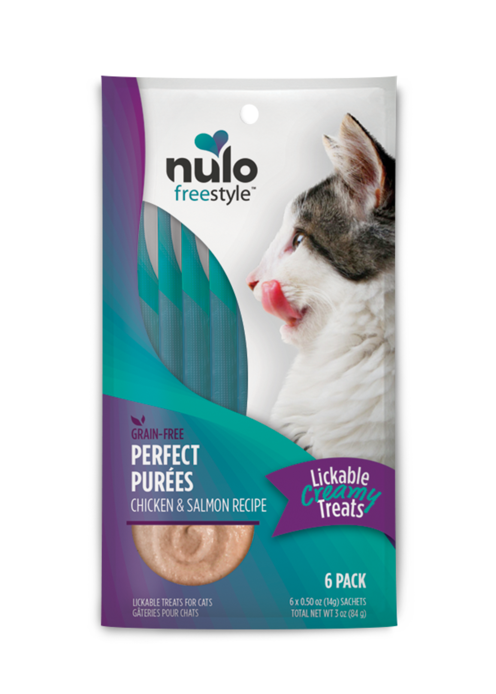 Nulo Nulo FreeStyle Cat Puree GF Chicken & Salmon 0.5oz 6 Pack