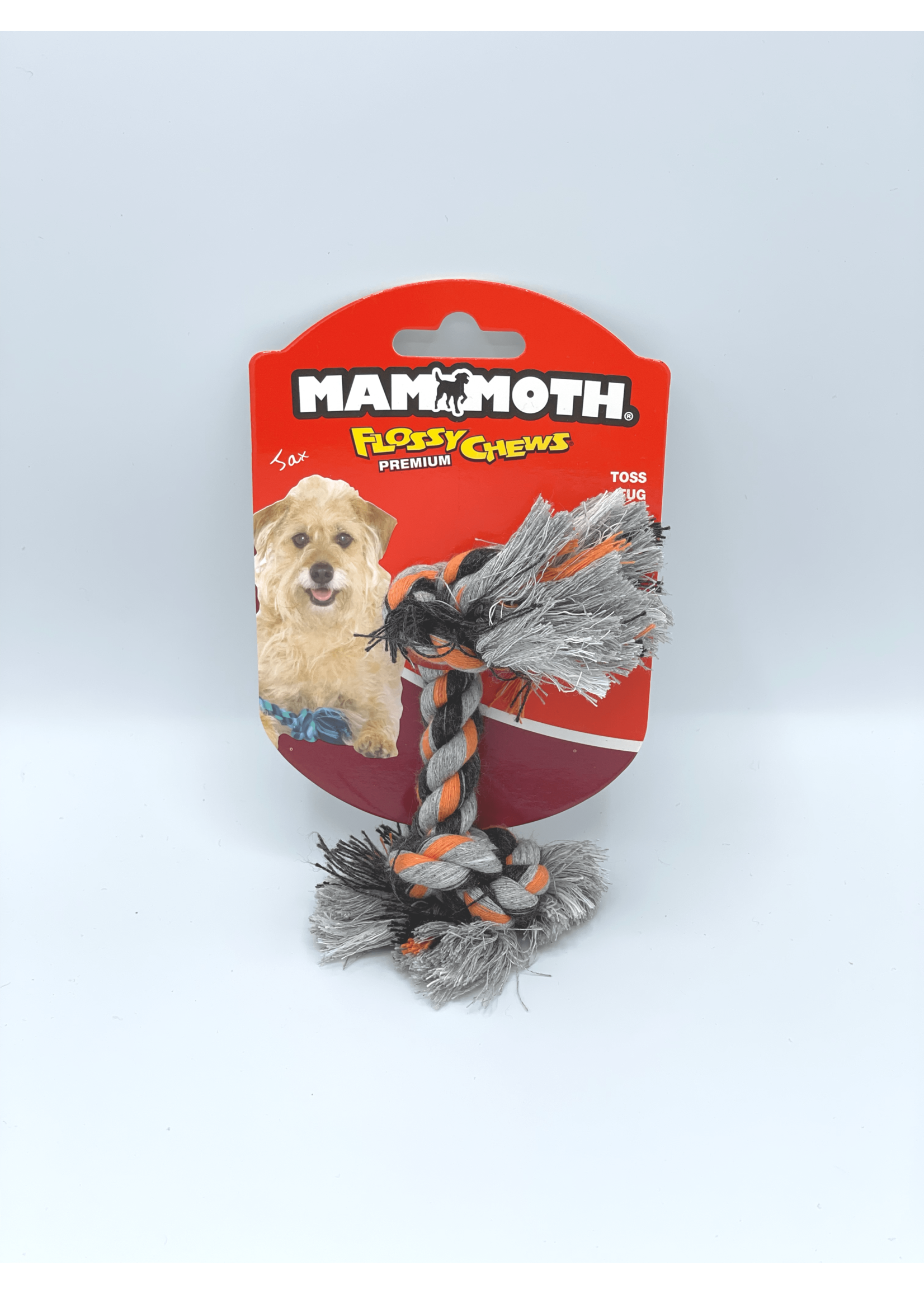 Mammoth Mammoth Flossy Chews 2 Knot Rope Toy